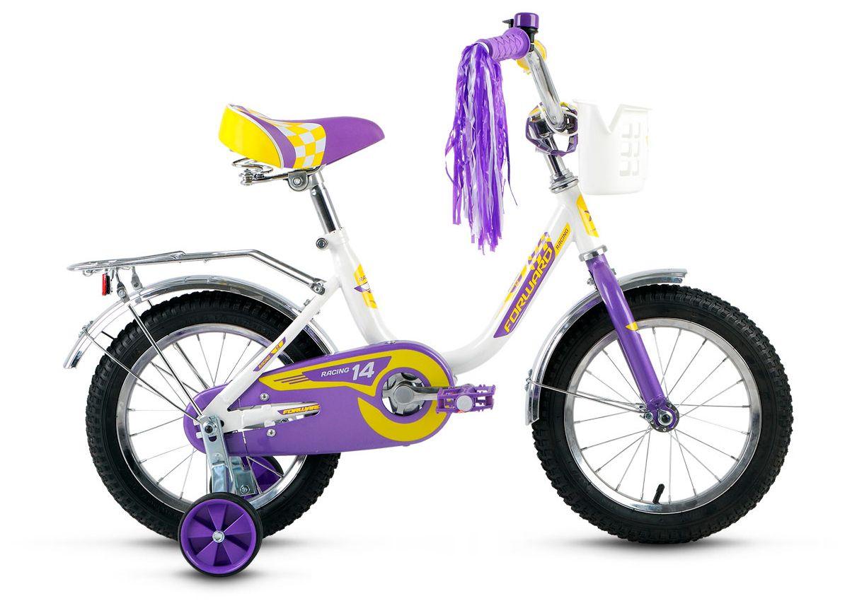 Велосипед Forward Racing  14 Girl 2016 детский велосипед для девочек forward racing 014 girl yellow pink