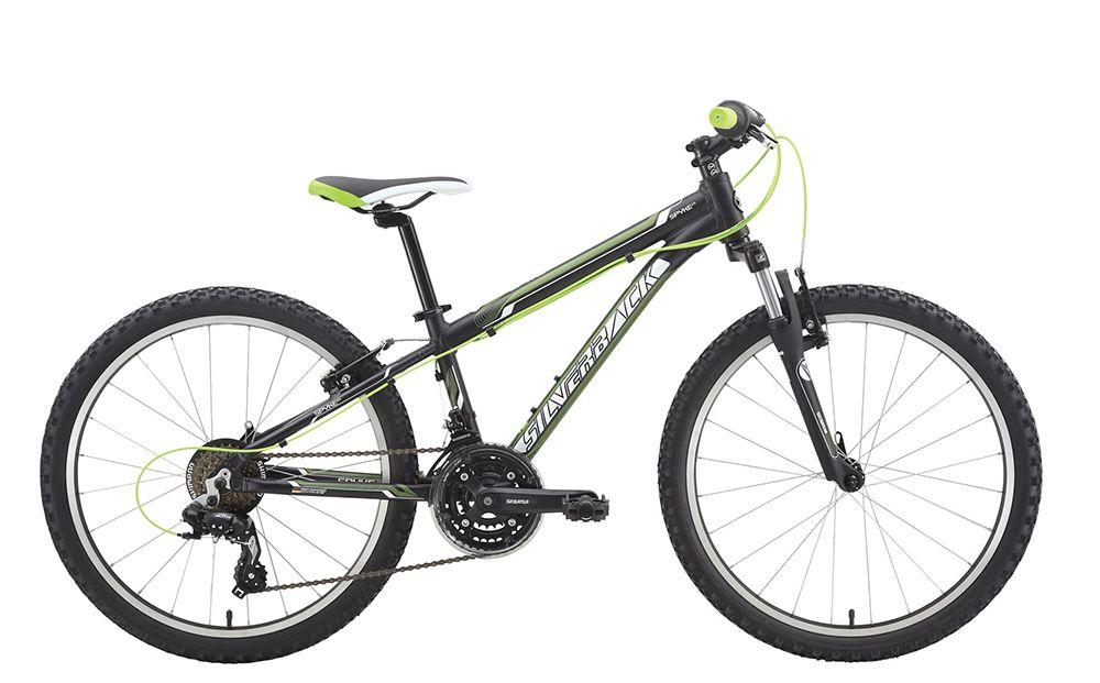 "Велосипед SilverbackДетские<br><br><br>year: 2015<br>цвет: чёрный<br>пол: мальчик<br>тип тормозов: ободной<br>диаметр колеса: 24<br>тип рамы: хардтейл<br>материал рамы: алюминий<br>количество скоростей: 21<br>вынос: Алюминиевый сплав, Silverback, 60 мм, 15 x 25,4 мм<br>руль: Алюминиевый сплав 6061, Silverback, ширина 540 мм, подъем 20 мм<br>передний тормоз: Silverback, алюминиевый сплав<br>задний тормоз: Silverback, алюминиевый сплав<br>система: Suntour CW14, 42/34/24T<br>защита звёзд/цепи: Chain guard<br>ободья: Weinmann CN520, алюминиевый сплав, 24 отверстия<br>передняя втулка: Алюминиевый сплав, QR, 24 отверстия<br>задняя втулка: Алюминиевый сплав, QR Cassette, 24 отверстия<br>передняя покрышка: Kenda, 24"" x 1.95""<br>задняя покрышка: Kenda, 24"" x 1.95""<br>седло: Silverback Comfort Fit<br>подседельный штырь: Алюминиевый сплав 6061, Silverback, 25,4 мм<br>кассета: Shimano MF-TZ21, 14-28T, 7 скоростей<br>передний переключатель: Shimano FD-TZ30<br>задний переключатель: Shimano Altus RD-M280<br>манетки: Shimano Tourney Revoshift SL-RS36, 3x7 Twistshifter<br>рама: Алюминиевый сплав 6061, Lightweight<br>вилка: Suntour M3020, ход 50 мм<br>Серия: Spyke"