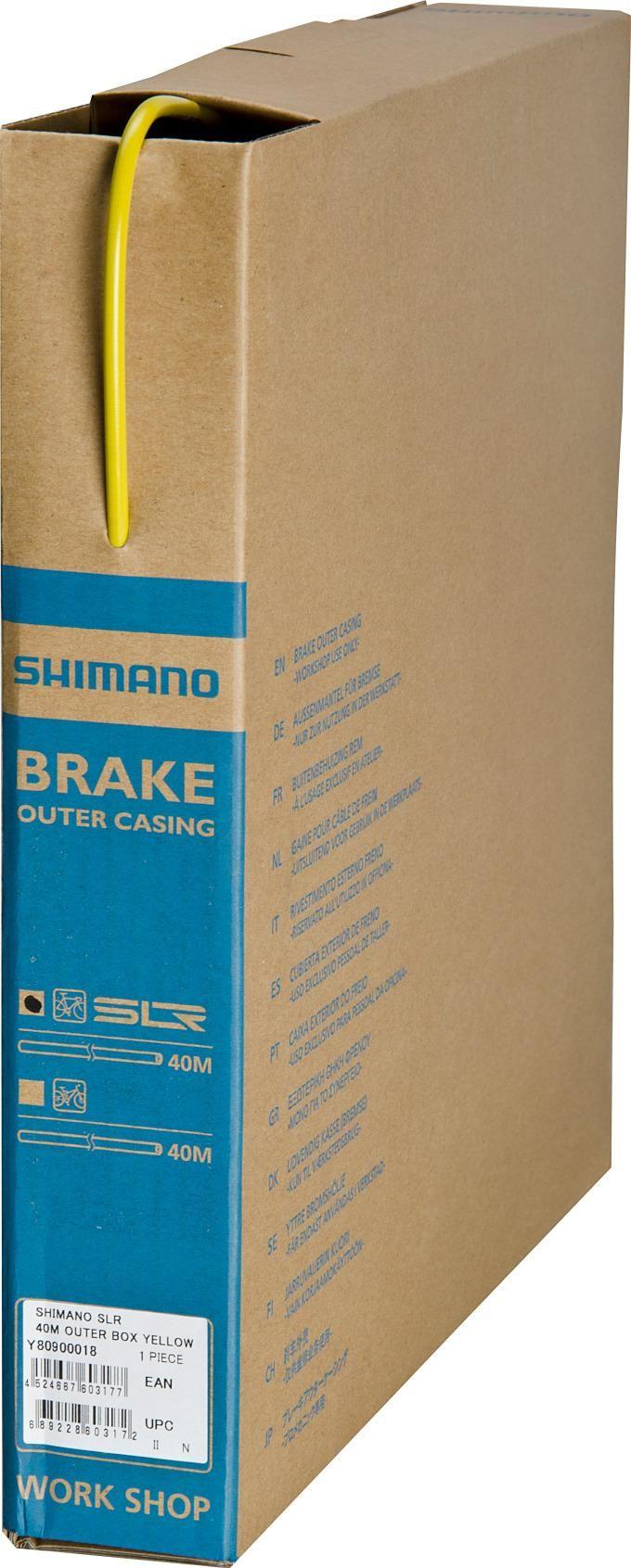 Запчасть Shimano оплетка троса тормоза SLR (Y80900018) оплетка тормоза shimano slr 40м в коробке цвет желтый y80900018