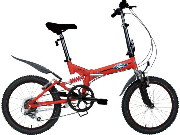 Велосипед FordСкладные<br>Ford Mondeo 2016 - это байк для людей, которые не терпят компромиссов! Складной двухподвес, благодаря которому вы сможете с комфортом кататься не только по ровным дорогам, но и по лесным маршрутам. Алюминиевая рама модели имеет высокую прочность и малый вес, а также оснащена простым механизмом складывания, с которым справится даже ребенок. Благодаря двум амортизаторам вы сможете преодолевать разбитые дороги и сложные участки пересеченной местности. За трансмиссию отвечает навесное оборудование Shimano.<br><br>year: 2016<br>цвет: красный<br>пол: мужской<br>тип тормозов: ободной<br>диаметр колеса: 20<br>тип рамы: двухподвес<br>уровень оборудования: любительский<br>материал рамы: алюминий<br>тип амортизированной вилки: пружинная<br>длина хода вилки: до 100 мм<br>тип заднего амортизатора: пружинный<br>количество скоростей: 7<br>блокировка амортизатора: нет<br>рулевая колонка: Oversion<br>вынос: D# Folding Handlepost, two piece, сталь, регулируемый<br>руль: T Flat bar, алюминиевый сплав 6061-T6<br>грипсы: Single-pass, One long and one short PVC<br>передний тормоз: Winzip, алюминиевый сплав, 110 мм<br>задний тормоз: Winzip, алюминиевый сплав, 110 мм<br>тормозные ручки: Матовые алюминиевые ручки, 3 refers<br>система: Double cover chainring, 52T, 170 мм<br>педали: Dahon, PC Body, складные<br>ободья: Алюминиевый сплав, 28H<br>передняя втулка: Dahon Custom, Compact, алюминиевый сплав<br>задняя втулка: Dahon Custom, Compact, алюминиевый сплав<br>спицы: Нержавеющая сталь 14 g<br>передняя покрышка: Kenda, 20 x 1.95<br>задняя покрышка: Kenda, 20 x 1.95<br>седло: Ford, comfort<br>подседельный штырь: Oversion, алюминиевый сплав 6061<br>кассета: Shimano, 14-28T, 7 скоростей<br>задний переключатель: Shimano RD-TY21<br>манетки: Shimano, Twist Shiter<br>крылья: Flying<br>подножка: Lightweight, алюминиевый сплав<br>рама: TS series, Suspension  FrameGrease, LlowTM Frame Latch Design, алюминиевый сплав<br>вилка: Shock, Fusion technology<br>размер рамы: One size