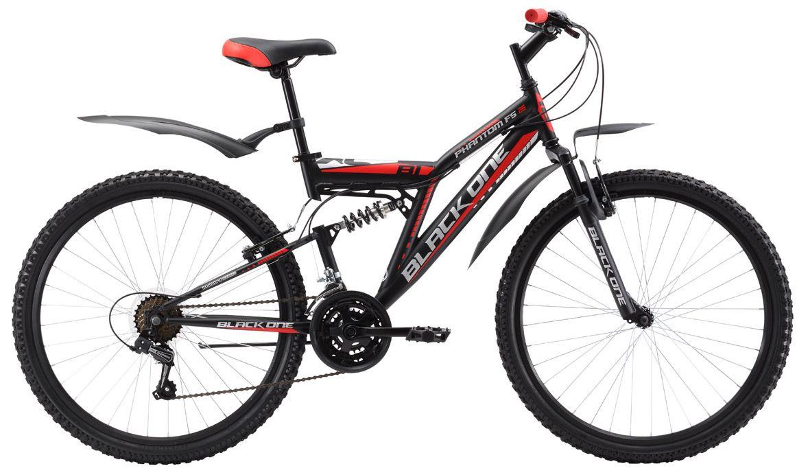 Велосипед Black One Phantom FS 26 2017 велосипед challenger mission lux fs 26 черно красный 16