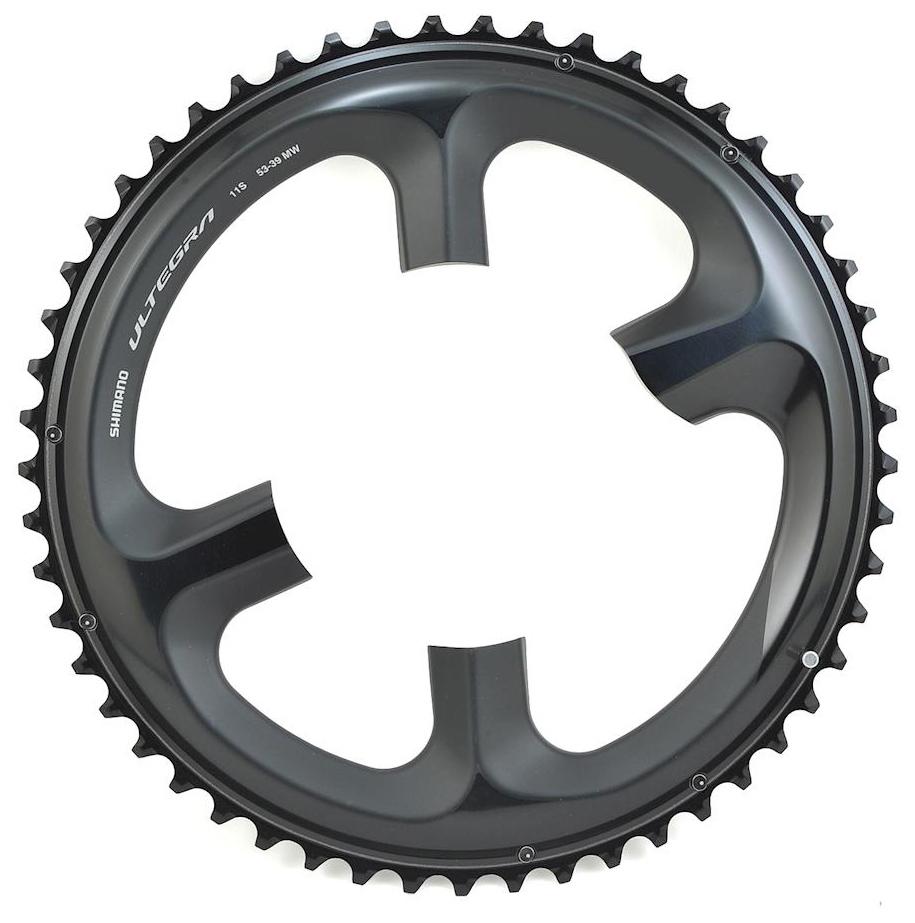 Запчасть Shimano передн. Ultegra для FC-R8000, 53T-MW для 53-39T перекл передн shimano xtr fd m9020e 2x11v боковая тяга