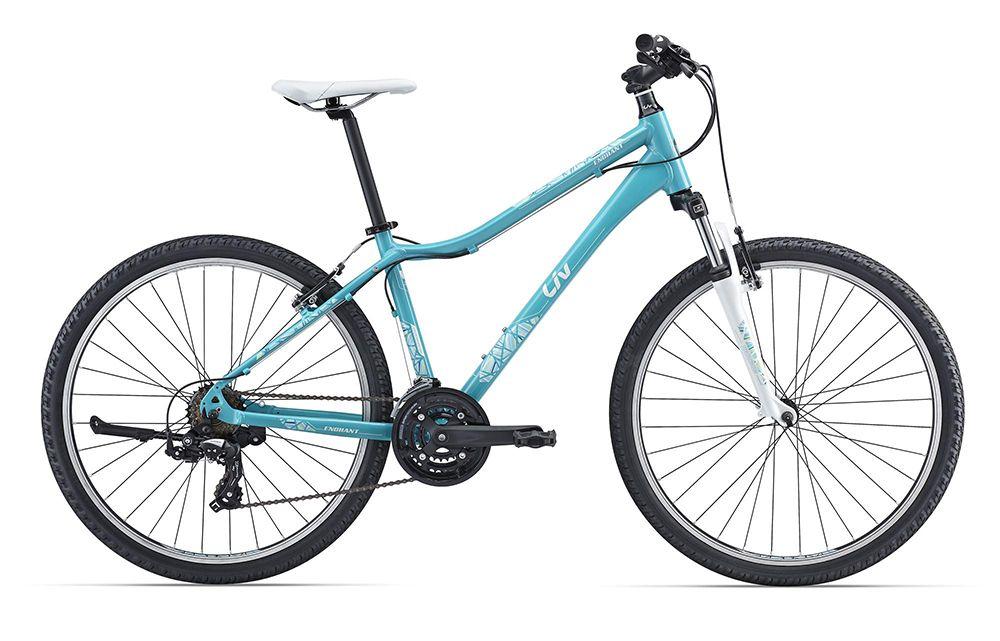 Велосипед GiantЖенские<br>Легкий и стильный женский велосипед Giant  Enchant 2 2016, который одинаково хорошо подойдет и для катания по велодорожкам, и для передвижения по бездорожью. Велосипед имеет специальную заниженную раму, изготовленную из алюминиевого сплава. Такой сплав позволил добиться максимальной прочности и минимального веса для всей модели. Амортизационная вилка Suntour M3010 AL поможет при передвижении по сложному рельефу и смягчит все удары переднего колеса о камни и корни. Навесное оборудование Shimano Tourney - это проверенные временем надежные переключатели передач.<br><br>year: 2016<br>пол: женский<br>тип рамы: хардтейл<br>уровень оборудования: любительский<br>длина хода вилки: до 100 мм<br>блокировка амортизатора: нет<br>вынос: Giant Sport<br>руль: Giant Sport<br>передний тормоз: TX-122<br>задний тормоз: TX-122<br>тормозные ручки: Shimano ST-EF41<br>цепь: Z51<br>система: SR Suntour NEX, 42/34/24T<br>каретка: SR BB10, картридж<br>педали: New pedal<br>ободья: Giant CH17 SW, алюминиевый сплав<br>передняя втулка: Joytech S01<br>задняя втулка: Joytech S01<br>спицы: 14g нержавеющая сталь<br>передняя покрышка: Kenda, Multi-Surface, 26 x 1.95<br>задняя покрышка: Kenda, Multi-Surface, 26 x 1.95<br>седло: Liv Connect, Upright<br>подседельный штырь: Giant Sport<br>кассета: TZ21, 14x24<br>манетки: Shimano ST-EF40, EZ Fire<br>рама: Алюминиевый сплав, ALUXX-Grade<br>вилка: Suntour M3010 AL<br>тип заднего амортизатора: без амортизатора<br>цвет: белый<br>размер рамы: 18&amp;amp;quot;<br>материал рамы: алюминий<br>тип тормозов: ободной<br>диаметр колеса: 26<br>тип амортизированной вилки: пружинная<br>передний переключатель: Shimano Tourney TX51<br>задний переключатель: Shimano Tourney TX55<br>количество скоростей: 21