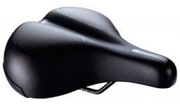 Седло и штырь для велосипеда  BBB  BSD-106 ComfortPlus Upright saddle memory foam steel rail 230