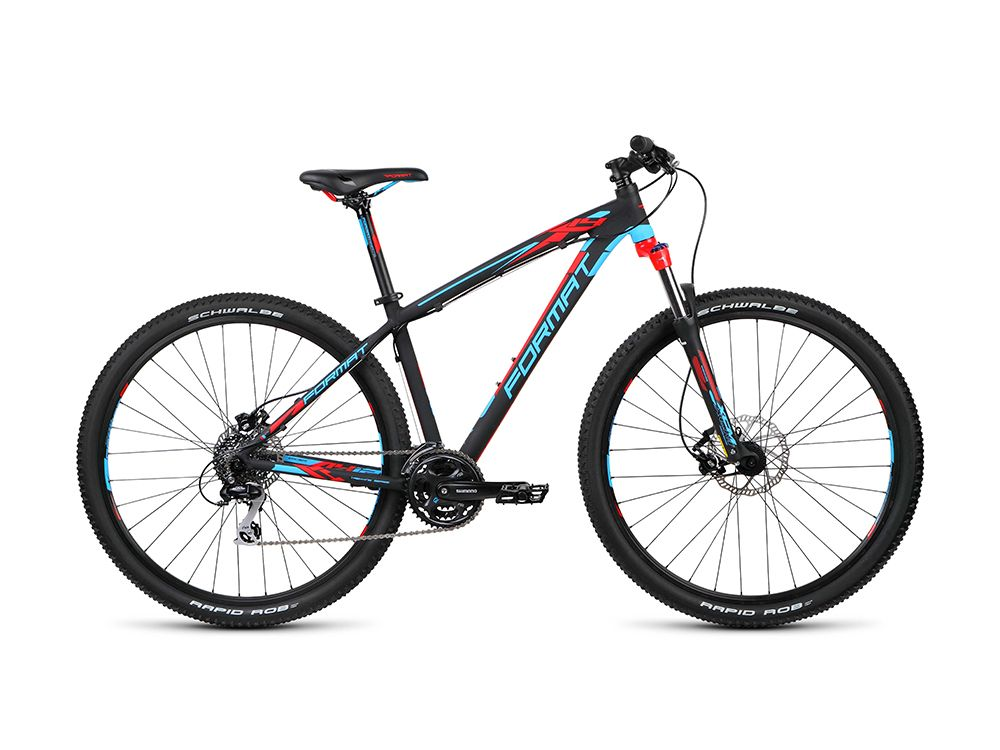 Велосипед FormatГорные<br><br><br>year: 2015<br>цвет: чёрный<br>пол: мужской<br>тип тормозов: дисковый гидравлический<br>диаметр колеса: 29<br>тип рамы: хардтейл<br>уровень оборудования: продвинутый<br>материал рамы: алюминий<br>тип амортизированной вилки: пружинно-масляная<br>длина хода вилки: от 100 до 150 мм<br>тип заднего амортизатора: без амортизатора<br>количество скоростей: 24<br>блокировка амортизатора: да<br>передний тормоз: Tektro HDC-300, диаметр ротора 180 мм<br>задний тормоз: Tektro HDC-300, диаметр ротора 160 мм<br>система: Shimano Altus, 42/32/22T<br>передняя втулка: Алюминиевый сплав, QR<br>задняя втулка: Алюминиевый сплав, QR<br>передняя покрышка: Schwalbe Rapid Rob, 29<br>задняя покрышка: Schwalbe Rapid Rob, 29<br>передний переключатель: Shimano Altus<br>задний переключатель: Shimano Alivio<br>манетки: Shimano Altus<br>рама: U6 Db Format, custom tubing<br>вилка: SR Suntour XCM HLO, ход 100 мм<br>размер рамы: 15&amp;amp;quot;
