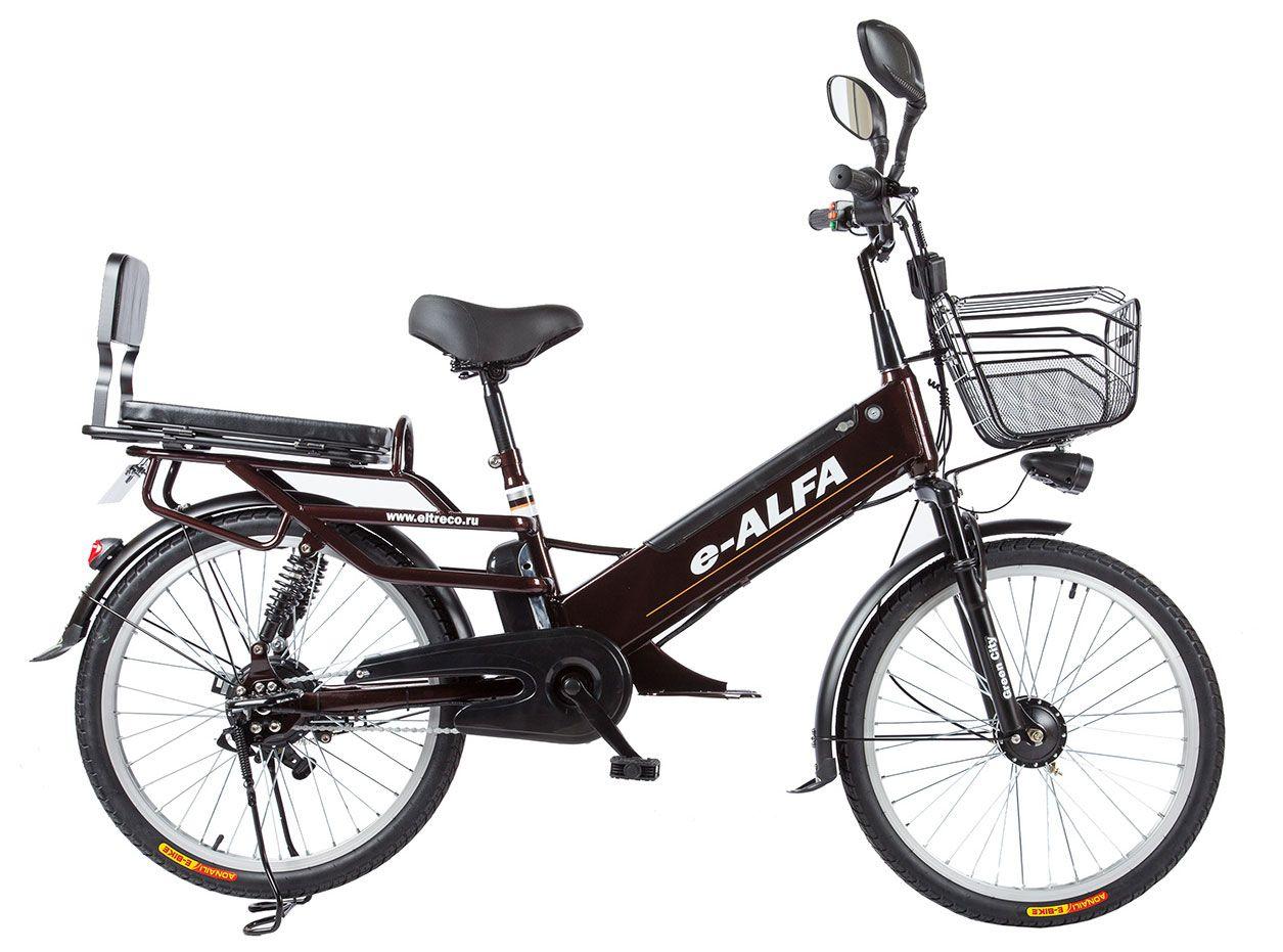 Велосипед Eltreco e-Alfa L 2018 велосипед eltreco jazz 350w 2016