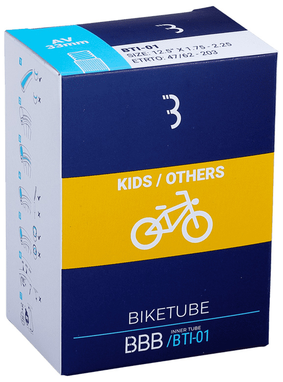 Запчасть BBB BTI-11 BikeTube 16*1,75/2,35 AV 33mm камера велосипедная bbb 27 5 2 10 2 35 fv 33mm защита от проколов велониппель bti 68
