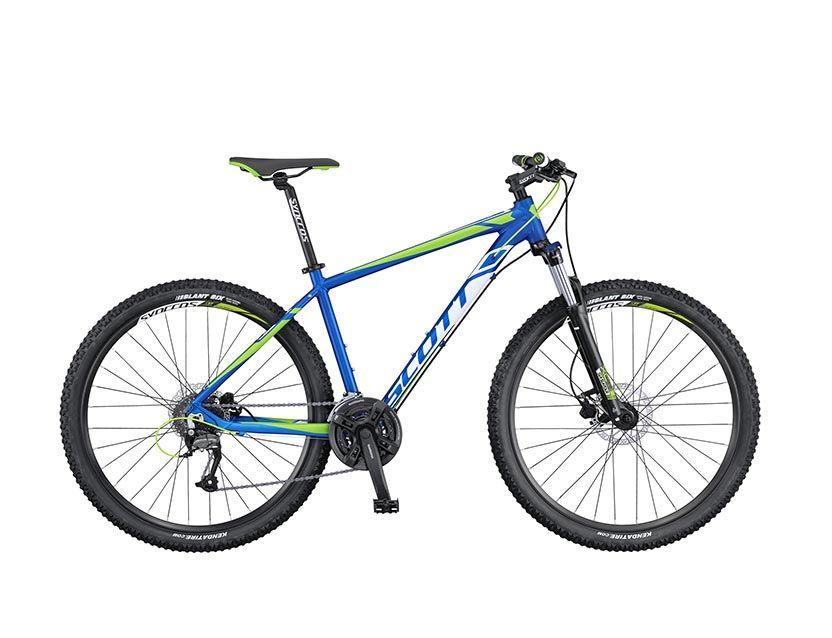 Велосипед ScottГорные<br>Scott Aspect 950 - это высококачественный горный хардтейл, который подойдет как для передвижения по бездорожью, так и для прогулок по городским велодорожкам и парковым аллеям. Помимо стильного дизайна Scott Aspect 950 обладает надежным и долговечным навесным оборудованием. Алюминиевая рама помогла снизить общий вес велосипеда без потери прочности. Амортизационная вилка Suntour XCT-HLO обладает функцией блокировки, которая поможет при катании по ровным дорогам. Трансмиссия от компании Shimano относится к категории любительской.<br><br>year: 2016<br>цвет: серый<br>пол: мужской<br>тип тормозов: дисковый гидравлический<br>диаметр колеса: 29<br>тип рамы: хардтейл<br>уровень оборудования: любительский<br>материал рамы: алюминий<br>тип амортизированной вилки: пружинно-масляная<br>длина хода вилки: от 100 до 150 мм<br>тип заднего амортизатора: без амортизатора<br>количество скоростей: 24<br>блокировка амортизатора: да<br>рулевая колонка: Ritchey Logic OE integ.<br>вынос: Syncros M3.0HL-D507A<br>руль: Syncros M3.0 FT, ширина 640 мм, 9<br>передний тормоз: Tektro SCH-F15, диаметр ротора 160 мм<br>задний тормоз: Tektro SCH-F15, диаметр ротора 160 мм<br>тормозные ручки: Tektro SCH-F15<br>цепь: KMC X8<br>система: Crankset Shimano FC-M171, 42x34x24<br>защита звёзд/цепи: Chain guard<br>каретка: Chian-Haur, CH-52 - B<br>педали: Wellgo M-141SDU<br>ободья: Rims Syncros X-39 Disc, 32H<br>передняя втулка: Formula DC-19FQR<br>задняя втулка: Formula DC-25RQR<br>спицы: Нержавеющая сталь, 14 G<br>передняя покрышка: Tires Kenda Slant 6, 30TPI, 29<br>задняя покрышка: Tires Kenda Slant 6, 30TPI, 29<br>седло: Aspect VL1423<br>подседельный штырь: Syncros M3.0, 31.6 мм<br>кассета: Shimano CS-HG31-8, 11-32 T<br>передний переключатель: Shimano FD-M190<br>задний переключатель: Shimano Altus RD-M370<br>манетки: Shimano SL-M310-8RR, fire plus<br>вес: 14.5 кг<br>вилка: Suntour XCT-HLO-32 29<br>размер рамы: 18&amp;amp;quot;<br>Серия: Aspect