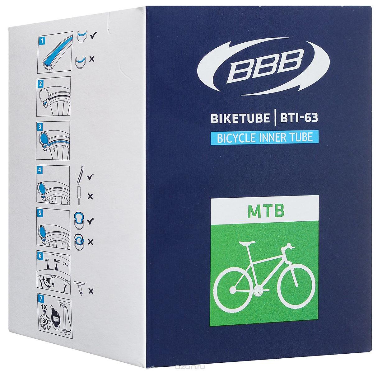 Запчасть BBB BTI-63 BikeTube 26*1,75/2,35 FV 48 mm камера велосипедная bbb 27 5 2 10 2 35 fv 33mm защита от проколов велониппель bti 68