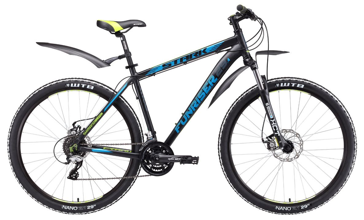 Велосипед Stark Funriser 29.4 D 2017 stark велосипед stark outpost disc 2016 сине оранжевый 20