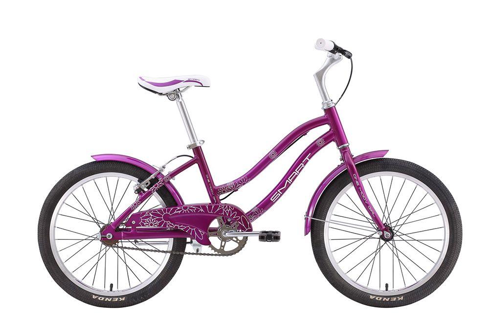 Велосипед SmartДетские<br>ВЕЛОСИПЕД SMART ONE MOOV GIRL (2015) – красивый и стильный велосипед для маленьких велосипедисток со вкусом. На выбор представлены два цвета: розовый и желтый, при этом оба имеют эстетичную на вид и эргономичную в использовании форму. Модель ориентирована на девочек 5-9 лет. В отличие велосипедов для самых маленьких, технические характеристики этого байка имитируют «взрослые» аналоги. Рама выполнена из алюминия высокой прочности, в комплектации присутствует жесткая стальная вилка, а диаметр колес достиг 20 дюймов. Для облегчения управления производители решили остановиться на одной скорости и ободных механических тормозах.Купить SMART ONE MOOV GIRL (2015) и позволить ребенку почувствовать удобство сидения и комфортность катания на велосипеде – проще простого. Необходимо оставить заказ через меню интернет-магазина, наши эксперты уточнят детали – и байк высокого качества с гарантией производителя окажется в любом указанном регионе РФ. Что немаловажно – быстро и недорого!<br><br>year: 2015<br>пол: девочка<br>тип рамы: хардтейл<br>уровень оборудования: любительский<br>длина хода вилки: нет<br>блокировка амортизатора: нет<br>рулевая колонка: Сталь<br>вынос: Smart ride technology, Superlight, алюминиевый сплав, ?25.4<br>руль: Smart ride technology, алюминиевый сплав, Hi-rise, ширина 540 мм<br>грипсы: XH-G58, rubber<br>задний тормоз: Алюминиевый сплав<br>цепь: KMC C410<br>система: Сталь, One Piece<br>защита звёзд/цепи: Есть<br>каретка: Сталь<br>педали: Пластиковые<br>ободья: VN-20<br>передняя втулка: Joy Tech, JY-731DSE, алюминиевый сплав<br>задняя втулка: Joy Tech, JY-732DSE, алюминиевый сплав<br>передняя покрышка: Kenda K1016, 20<br>задняя покрышка: Kenda K1016, 20<br>седло: Velo, VL-5065<br>подседельный штырь: Алюминиевый сплав, 27.2 мм<br>кассета: 18t<br>крылья: Custom<br>рама: Алюминиевый сплав, lightweight frame<br>вилка: Сталь<br>тип заднего амортизатора: без амортизатора<br>цвет: зелёный<br>размер рамы: One size<br>материал рамы: алюминий<