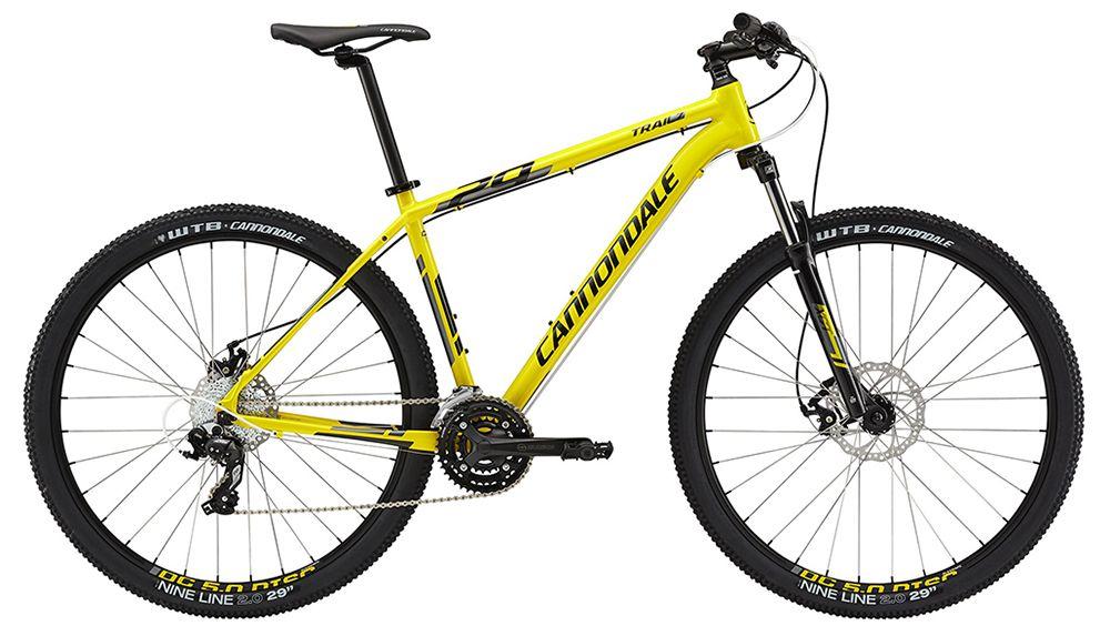 Велосипед CannondaleГорные<br>ВЕЛОСИПЕД CANNONDALE TRAIL 7 29 (2015) – динамичный байк, который легко и виртуозно преодолевает любые трудности горных массивов, а также станет верным спутником в условиях города. Дисковые тормоза механического типа Tektro Novela прекрасно ведут себя на самых сложных участках горных спусков и проявляют свои лучшие качества во время неблагоприятных погодных условий. Байк имеет 24-скоростную трансмиссию, оборудован 29-дюймовыми колесами, а специальная конструкция вилки на винтовой пружине отлично гасит все вибрации и удары о дорогу. Покрышкам WTB NineLine нестрашны самые сложные препятствия и механические повреждения, так как резина имеет надежную защиту от любых неприятностей.Если вы хотите купить ВЕЛОСИПЕД TRAIL 7 29 (2015) по разумной цене в рублях, оформите заказ в нашем магазине. Мы организуем доставку в любой город России в минимальные сроки.<br><br>year: 2015<br>цвет: жёлтый<br>пол: мужской<br>тип рамы: хардтейл<br>уровень оборудования: любительский<br>длина хода вилки: от 100 до 150 мм<br>тип заднего амортизатора: без амортизатора<br>блокировка амортизатора: нет<br>рулевая колонка: Tange Zstep<br>вынос: Cannondale C4, 31.8, угол 7<br>руль: Cannondale C4, алюминиевый сплав 6061, ширина 680 мм, подъем 20 мм<br>грипсы: Cannondale Dual-Density<br>передний тормоз: Tektro Novela, диаметр ротора 180 мм<br>задний тормоз: Tektro Novela, диаметр ротора 160 мм<br>тормозные ручки: Shimano EF51 Easyfire<br>цепь: KMC Z51, 8 скоростей<br>система: SR Suntour, 42/34/24<br>каретка: Tange LN 3912, квадрат, конус<br>педали: Cannondale Platform<br>ободья: Alex DC 5.0, с двойной стенкой, 32 отверстия<br>передняя втулка: Cannondale C4 Disc<br>задняя втулка: Cannondale C4 Disc<br>спицы: 14g нержавеющая сталь<br>передняя покрышка: WTB NineLine, 29<br>задняя покрышка: WTB NineLine, 29<br>седло: Cannondale Stage 3<br>подседельный штырь: Cannondale C4, алюминиевый сплав, 27.2 x 350 мм<br>кассета: Sunrace, 11-32, 8 скоростей<br>манетки: Shimano EF51 Easyfire