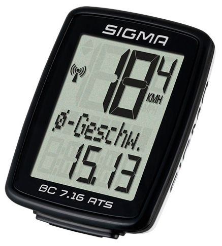 Аксессуар SIGMA BC 7.16 ATS,7 функций велокомпьютер sigma bc 5 12 тopline цвет черный 5 функций