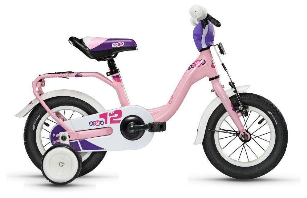 Велосипед ScoolДетские<br>Велосипед Scool niXe 12 (2016) – модель для девочек, которые только начинают кататься. Он снабжен дополнительными боковыми колесиками для тех, кто еще боится отрывать ноги от земли и крутить педали самостоятельно. У велосипеда есть багажник, регулируемое по высоте седло, которое имеет специальную ручку сзади для того, чтобы родители могли толкать велосипед вперед или для удобства его транспортировки. Светоотражатели обеспечивают дополнительную безопасность в вечернее время суток. Рама особой низкой конструкции позволяет кататься даже в юбке или платье и быстро соскакивать с велосипеда при остановке. Идеальный вариант для летних прогулок!<br><br>year: 2016<br>цвет: фиолетовый<br>пол: девочка<br>тип тормозов: ободной<br>диаметр колеса: 12<br>тип рамы: хардтейл<br>материал рамы: алюминий<br>количество скоростей: 1<br>рулевая колонка: Интегрированная, алюминиевый сплав<br>вынос: Crash pad<br>руль: Junior Uprise, ширина 500 мм<br>грипсы: Softgrip, buffle protection, 100 мм<br>передний тормоз: Power, регулируемый<br>задний тормоз: Ножной<br>тормозные ручки: Kids, регулируемые<br>система: Sofoh 28T, 89 мм<br>защита звёзд/цепи: Chain guard<br>каретка: VP-BC 73, Compact<br>педали: VP-220, шариковые подшипники<br>ободья: LA-05, алюминиевый сплав<br>передняя втулка: Scool, алюминиевый сплав<br>задняя втулка: KT-305<br>передняя покрышка: Scool, Speedster, Ballon Reflex Logo, 12<br>задняя покрышка: Scool, Speedster, Ballon Reflex Logo, 12<br>подседельный штырь: YP, алюминиевый сплав, 27,2 мм<br>кассета: 16T<br>багажник: Есть<br>крылья: Scool, Junior Desig<br>дополнительные колёса: Есть<br>рама: Scool, Junior LE 12<br>вилка: Hi-Ten<br>Серия: Nixe