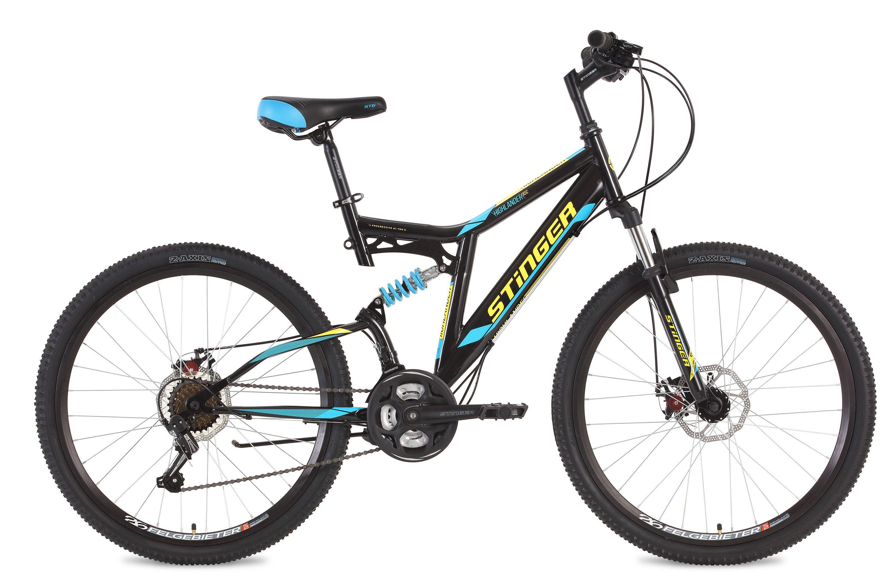 Велосипед Stinger Highlander D 26 2018 велосипед stinger highlander d 26 рама 16 оранжевый