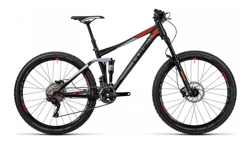 Велосипед CubeДвухподвесы<br>ВЕЛОСИПЕД CUBE STEREO 140 HPA PRO 27.5 (2016) — инновационная модель с горной комплектацией и улучшенной системой амортизации. Фирменная рама HPA Ultralight рассчитана на большие нагрузки и изготовлена по технологии тройного баттинга, но при этом она сохраняет легкость — конструкция велосипеда весит всего 13,7 кг. Она оснащена дисковыми гидравлическими тормозами Shimano BR-M506, которые оптимально подходят для горных неровностей, а колеса 27,5 дюймов укомплектованы выносливым компаундом от марки Schwalbe Nobby Nic. Амортизация на высоком уровне будет обеспечена работой вилки и заднего амортизатора от бренда Manitou.Приглашаем купить ВЕЛОСИПЕД CUBE STEREO 140 HPA PRO 27.5 (2016) у нас. Вас порадует широкий выбор, гибкая ценовая политика и качество оригинальной продукции.<br><br>year: 2016<br>цвет: чёрный<br>пол: мужской<br>тип рамы: двухподвес<br>уровень оборудования: профессиональный<br>длина хода вилки: от 100 до 150 мм<br>тип заднего амортизатора: воздушно-масляный<br>блокировка амортизатора: да<br>рулевая колонка: FSA 1.5E ZS, коническая, вверху: Zero-Stack 1 1/8<br>вынос: Cube, Performance Trail Stem, 31.8 мм<br>руль: Cube, Rise Trail Bar Pro, ширина 740 мм<br>грипсы: Cube, Race Grip, 1-Clamp<br>передний тормоз: Shimano BR-M506, диаметр ротора 180 мм<br>задний тормоз: Shimano BR-M506, диаметр ротора 180 мм<br>цепь: Shimano CN-HG600-11<br>система: Shimano XT, FC-M8000, 36x26T, 175 мм<br>ободья: Answer Atac AM, 15QR/X12, Tubeless-Ready, 584x23C<br>передняя покрышка: Schwalbe Nobby Nic, 27,5<br>задняя покрышка: Schwalbe Nobby Nic, 27,5<br>седло: Selle Italia SC1<br>подседельный штырь: Cube, 120 мм, регулируемый, 31.6 x 420 мм<br>кассета: Shimano XT, CS-M8000, 11-40<br>манетки: Shimano XT, SL-M8000-B-I, Direct Attach<br>рама: HPA Ultralight, Advanced Hydroform, Triple Butted, ETC 4-Link, ISCG Mount, AXH<br>вилка: Manitou Minute TS Air 27.5, Taper, 15QR, ход 140 мм<br>задний амортизатор: Manitou Radium Expert RL, 200 x 57 мм, Rebound, Loc