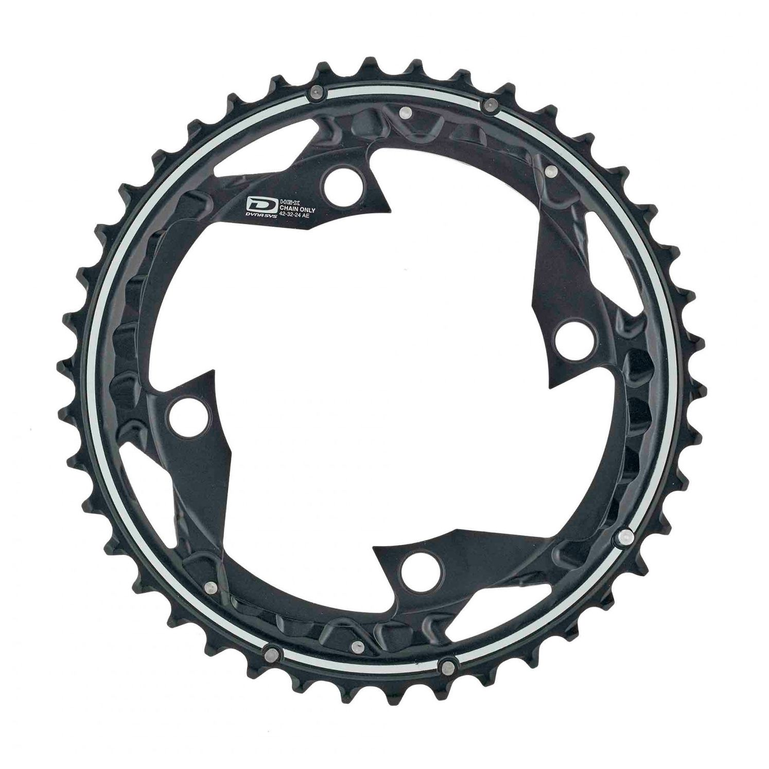 Запчасть Shimano FC-M610, 42T-AE (y10098020) fouriers cr dx004 cnc single chain ring bike bicycle chainrings sprocket 40t 42t for 10s shimano b c d 104mm