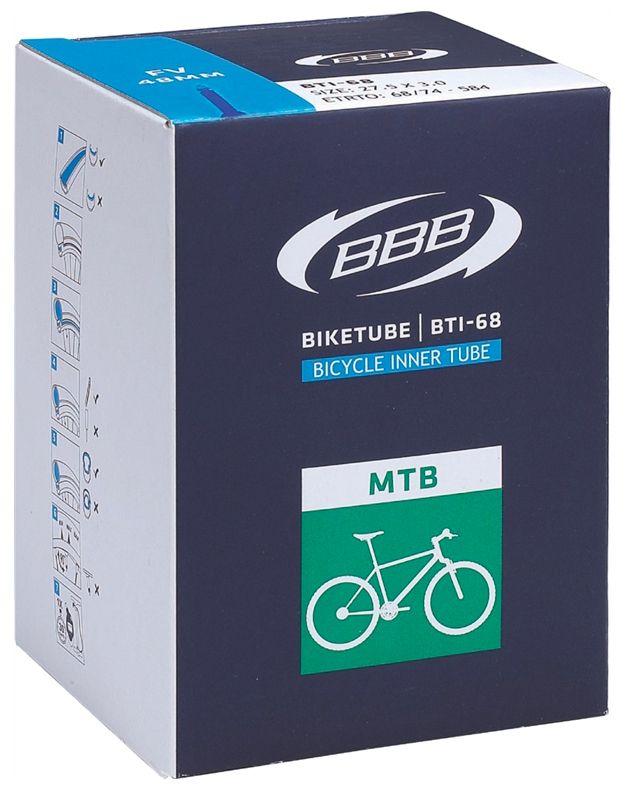 Запчасть BBB BTI-68 27.5x3,0 AV,  камеры и ободные ленты  - артикул:283026