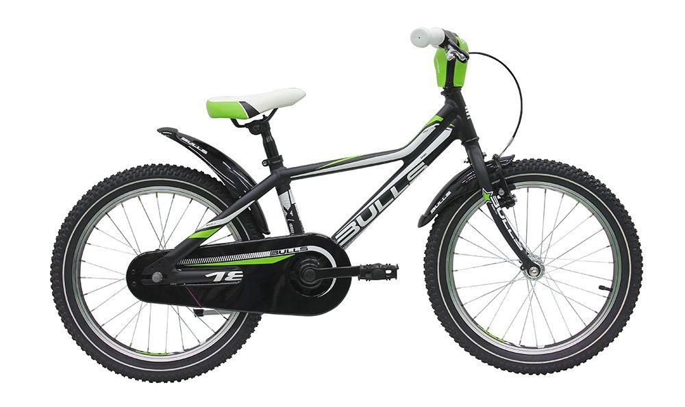 Велосипед BullsДетские<br>Детский велосипед, рассчитанный на мальчиков и девочек от 7 до 9 лет. Bulls Tokee Lite 18 2016 — это надежный друг, который поможет освоить азы катания на велосипеде. Модель оснащена двумя типами тормозов: задний ножной и передний ручной, что поможет ребенку освоиться с типом торможения, которым оснащены почти все взрослые велосипеды. Прочность и легкость Bulls Tokee Lite 18 2016 добился благодаря алюминиевой раме, изготовленной из сплава 7005. Цепкие покрышки Kenda K-1166 обеспечат отличный накат и сцепление с дорожным покрытием. Крылья, защита цепи и мягкая накладка на руль добавят безопасности при катании.<br><br>year: 2016<br>цвет: синий<br>пол: мальчик<br>тип рамы: хардтейл<br>руль: ATB<br>передний тормоз: Tektro Mini<br>задний тормоз: Ножной<br>система: 30T<br>защита звёзд/цепи: Full chainguard<br>ободья: Алюминиевые<br>передняя покрышка: Kenda K-1166, 18 x 2.1<br>задняя покрышка: Kenda K-1166, 18 x 2.1<br>седло: STYX Kids<br>подседельный штырь: Алюминиевый сплав<br>крылья: Mudguards<br>рама: Алюминиевый сплав 7005<br>вилка: Hi-Ten<br>Серия: None<br>материал рамы: алюминий<br>тип тормозов: ободной<br>диаметр колеса: 18<br>количество скоростей: 1