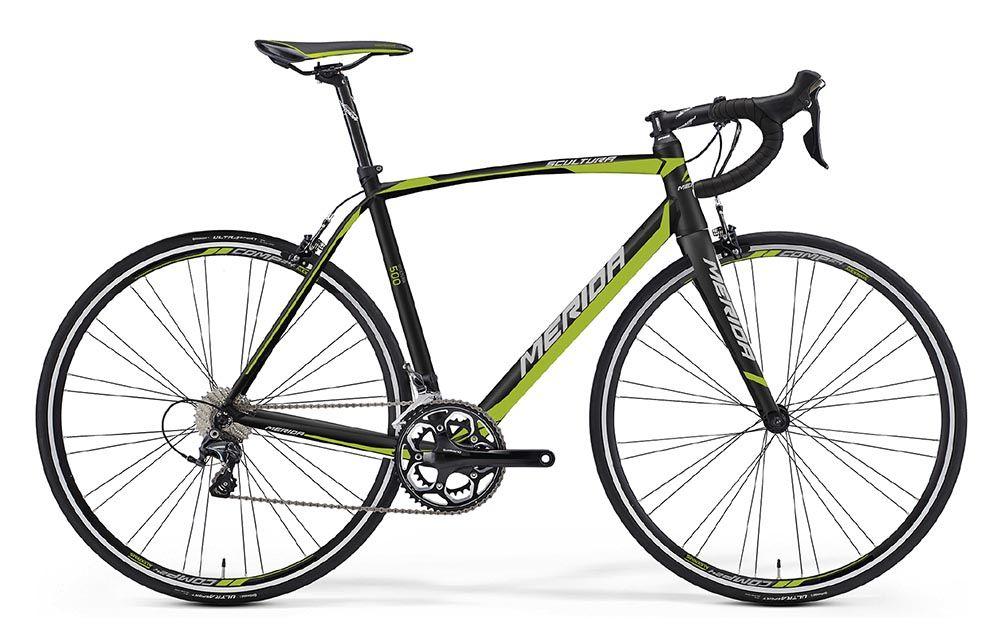 Велосипед MeridaШоссейные<br>ВЕЛОСИПЕД MERIDA SCULTURA 500 (2016) — мощная и яркая шоссейно-циклокроссовая модель в инновационной комплектации. В основе этого велосипеда фирменная облегченная рама Scultura lite с высокопрочными трубами и спортивной посадкой для равномерного распределения нагрузки. Вы оцените скорость реакции ободных тормозов Merida Road Pro и амортизацию с вилкой Road carbon comp. А 22-ступенчатая трансмиссия позволит лучше использовать возможности комплектации и чутко подстраиваться под определенные условия. Модель оснащена 28-дюймовыми колесами с покрышками Maxxis Dolemites 23.Вы можете купить ВЕЛОСИПЕД MERIDA SCULTURA 500 (2016) в оригинальной комплектации в нашем магазине. Мы предлагаем только продукцию от производителя и настоящее немецкое качество. Вас ждет быстрая доставка, приятные цены, наличие акций и скидок и качественный сервис.<br><br>year: 2016<br>пол: мужской<br>уровень оборудования: профессиональный<br>рулевая колонка: Big Conoid S-bearing neck pro<br>вынос: Merida pro OS -5<br>руль: Merida Compact road OS<br>грипсы: Merida Road Pro 3D<br>передний тормоз: Merida Road Pro<br>задний тормоз: Merida Road Pro<br>тормозные ручки: Attached<br>цепь: KMC X11<br>система: Shimano RS500, 50-34<br>каретка: Attached<br>ободья: Merida comp, 24 pair<br>передняя втулка: Formula Road Bearing<br>задняя втулка: Formula Road Bearing<br>спицы: Нержавеющая сталь, черные<br>передняя покрышка: Maxxis Dolemites 23, fold<br>задняя покрышка: Maxxis Dolemites 23, fold<br>седло: Merida Race 5<br>подседельный штырь: Merida carbon H SB15, 27.2 мм<br>кассета: Shimano CS-5800-11, 11-28<br>манетки: Shimano Ultegra, Dual Control<br>рама: Scultura lite<br>вилка: Road carbon comp<br>цвет: зелёный<br>размер рамы: 21.5&amp;amp;quot;<br>материал рамы: алюминий<br>тип тормозов: ободной<br>передний переключатель: Shimano Ultegra D<br>задний переключатель: Shimano Ultegra SS<br>количество скоростей: 22