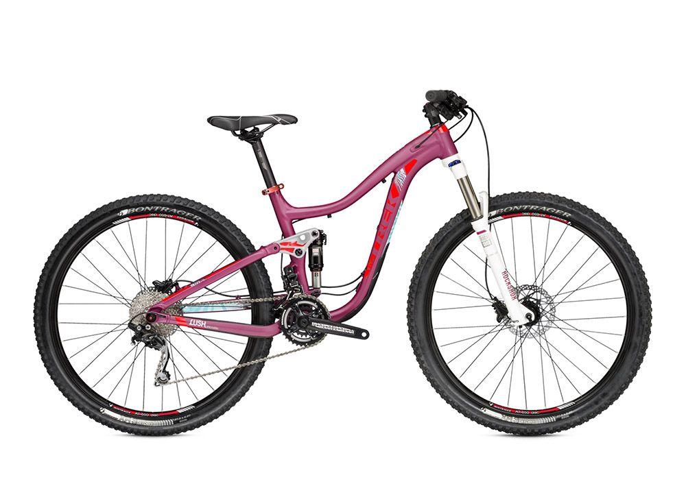 Велосипед TrekЖенские<br><br><br>year: 2015<br>цвет: розовый<br>тип рамы: двухподвес<br>уровень оборудования: продвинутый<br>длина хода вилки: от 100 до 150 мм<br>тип заднего амортизатора: воздушно-масляный<br>блокировка амортизатора: да<br>рулевая колонка: FSA IS-2, E2, алюминиевый сплав, картридж<br>вынос: Bontrager Race Lite, 31.8 мм, 7 градусов<br>руль: Bontrager Riser, 31.8 мм, подъем 15 мм<br>передний тормоз: Shimano M395<br>задний тормоз: Shimano M395<br>система: Race Face Ride, 36/22<br>педали: Wellgo, nylon platform<br>передняя покрышка: Bontrager XR3, 27.5<br>задняя покрышка: Bontrager XR3, 27.5<br>седло: Bontrager Evoke 1 WSD<br>подседельный штырь: Bontrager SSR, 31.6 мм, вынос 12 мм<br>кассета: Shimano HG50, 11-36, 10 скоростей<br>манетки: Shimano Deore, 10 скоростей<br>рама: WSD Alpha Platinum Aluminum, ABP Convert, Full Floater, E2 tapered head tube, press fit BB<br>размер рамы: 18.5&amp;amp;quot;<br>материал рамы: алюминий<br>тип тормозов: дисковый гидравлический<br>диаметр колеса: 27.5<br>тип амортизированной вилки: воздушно-масляная<br>передний переключатель: Sram X5, high direct mount<br>задний переключатель: Shimano Deore, Shadow<br>количество скоростей: 20