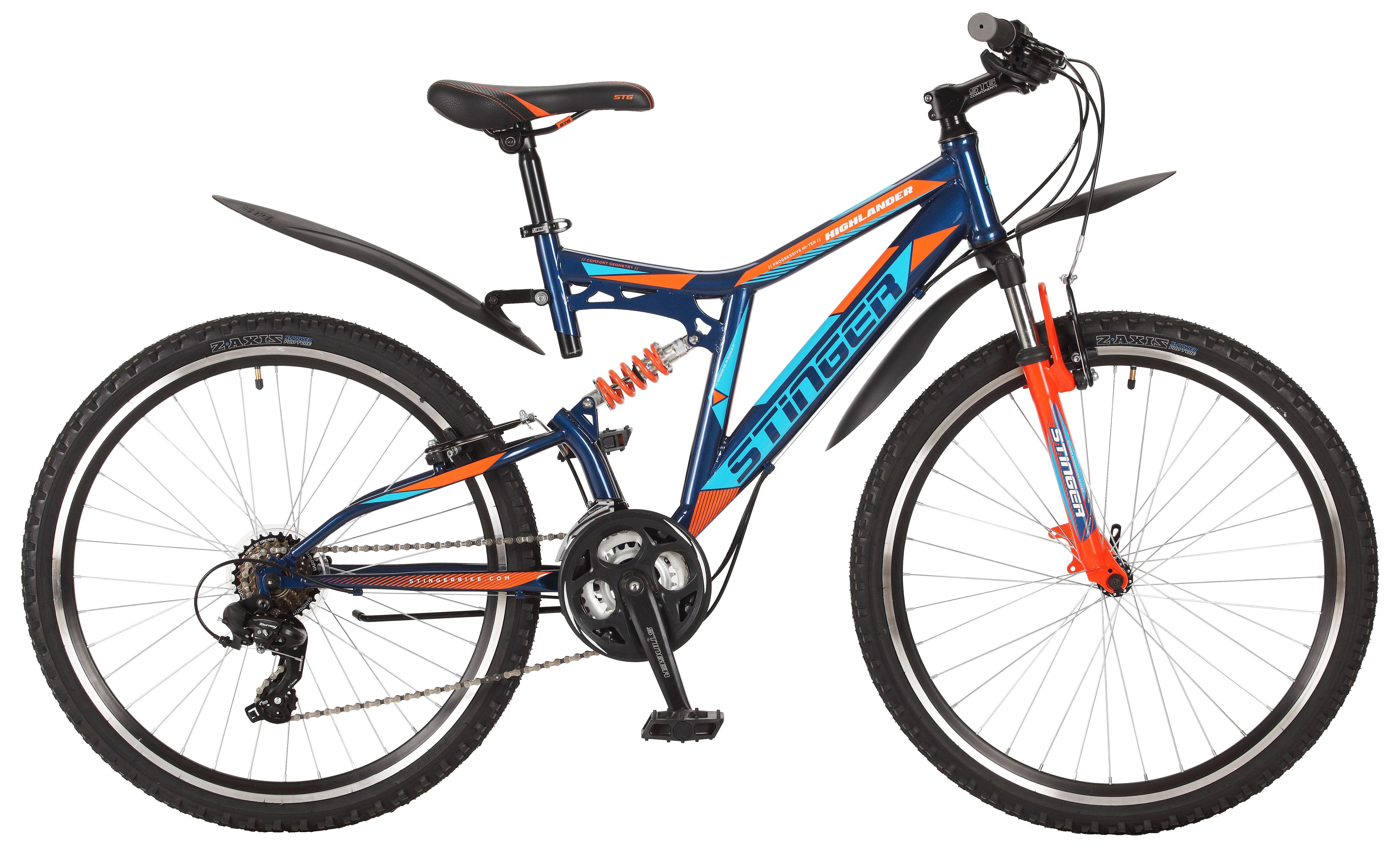Велосипед Stinger Highlander 200V 26 2017 велосипед stinger highlander d 26 рама 16 оранжевый