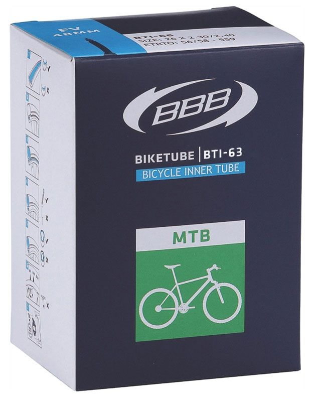 Запчасть BBB BTI-63 26*1,9-2,30 DV-EP 40 mm,  камеры и ободные ленты  - артикул:284295