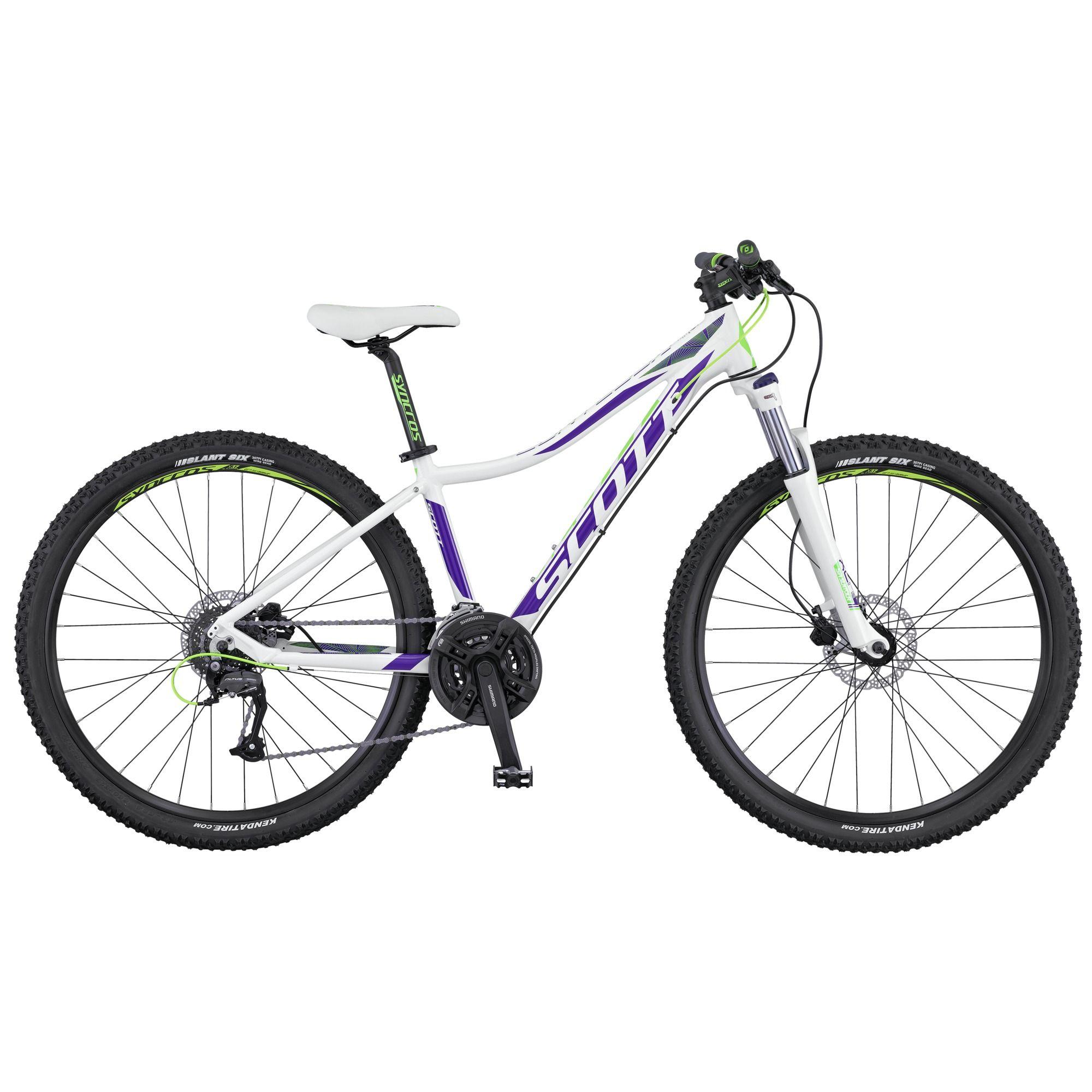 Велосипед ScottЖенские<br>Если вы следите за здоровьем и фигурой и привыкли все свободное время проводить активно и подвижно, то обратите внимание на стильный, легкий и маневренный горный велосипед для девушек Scott Contessa 720. Модель получилась не только легкой, но и прочной. Это стало доступно из за использования алюминиевого сплава при изготовления рамы. Амортизационная вилка Suntour XCR-RL-R смягчит все неровности дороги и не даст устать рукам от постоянной тряски на бездорожье. Трансмиссия любительского уровня Shimano Altus.<br><br>year: 2016<br>цвет: белый<br>пол: женский<br>тип рамы: хардтейл<br>уровень оборудования: любительский<br>длина хода вилки: от 100 до 150 мм<br>тип заднего амортизатора: без амортизатора<br>блокировка амортизатора: да<br>рулевая колонка: GW 1SI110 OE integ.<br>вынос: HL-D507A, 31.8 мм<br>руль: Contessa Active, ширина 640 мм, подъем 15 мм, 31.8 мм, 9°<br>передний тормоз: Tektro SCH-F15, диаметр ротора 160 мм<br>задний тормоз: Tektro SCH-F15, диаметр ротора 160 мм<br>тормозные ручки: Tektro SCH - F15<br>цепь: KMC Z-7<br>система: Shimano FC-TY701, 42x34x24T<br>защита звёзд/цепи: CG<br>каретка: Shimano BB-UN 100, Cartridge Type<br>педали: Wellgo M-141SDU<br>ободья: Syncros X-37 Disc, 32H<br>передняя втулка: Formula DC-19FQR<br>задняя втулка: Formula DC-25RQR<br>спицы: 14 G, stainless<br>передняя покрышка: Kenda Slant 6, 30TPI, 27.5 x 2.1<br>задняя покрышка: Kenda Slant 6, 30TPI, 27.5 x 2.1<br>седло: Contessa SCT 2016<br>подседельный штырь: Contessa Active, 27.2 мм<br>кассета: Shimano CS-HG31-8, 11-32T<br>манетки: Shimano SL-M310-8R, R-fire plus<br>вес: 14.1 кг<br>рама: Contessa Active 700 series / 6061 Alloy / Solution geometry<br>вилка: Suntour XCM-HLO Lockout, Softer spring setup, ход 100 мм<br>размер рамы: 16&amp;amp;quot;<br>Серия: None<br>материал рамы: алюминий<br>тип тормозов: дисковый гидравлический<br>диаметр колеса: 27.5<br>тип амортизированной вилки: пружинно-масляная<br>передний переключатель: Shimano FD-M190 / 31.8 мм<br>за