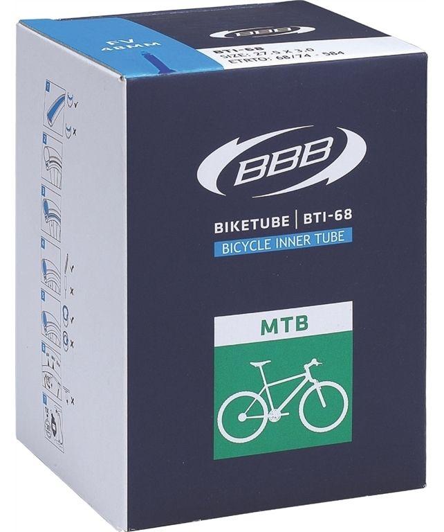 Запчасть BBB BTI-68, 27.5 x 2,10/2.35 AV 40 mm,  камеры и ободные ленты  - артикул:282923