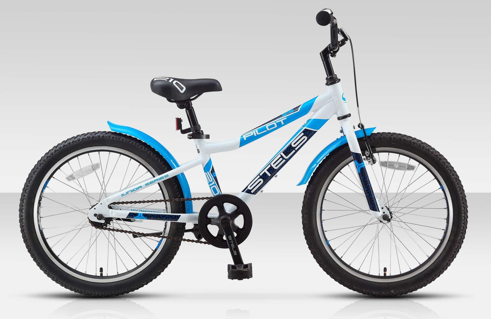 Велосипед StelsДетские<br>Яркий и прочный детский велосипед Stels Pilot 210 Boy. Благодаря универсальному дизайну и геометрии, модель Stels Pilot 210 Boy отлично подойдет активным мальчикам. Алюминиевая рама обеспечила велосипед малым весом при высокой прочности. Подножка поможет ребенку припарковать Stels Pilot 210 Boy в любом месте, где ему захочется, не бросая велосипед на землю. Крылья не дадут одежде ребенка промокнуть при катании по лужам и мокрым дорогам. Мягкая накладка на руле обеспечит дополнительную безопасность.<br><br>year: 2016<br>пол: мальчик<br>тип рамы: хардтейл<br>рулевая колонка: VP, сталь<br>передний тормоз: Power, V-типа<br>задний тормоз: Ножной<br>система: Prowheel, сталь, 36T<br>защита звёзд/цепи: Есть<br>каретка: VP, сталь<br>педали: Wellgo, пластик<br>ободья: Алюминиевые, двойные<br>передняя втулка: KT, сталь<br>задняя втулка: KT, сталь<br>передняя покрышка: ChapYang, 20 x 1.95<br>задняя покрышка: ChapYang, 20 x 1.95<br>седло: Cionlli<br>кассета: KT<br>крылья: Сталь<br>подножка: Есть<br>рама: Алюминий<br>цвет: красный<br>материал рамы: алюминий<br>тип тормозов: ножной<br>диаметр колеса: 20<br>количество скоростей: 1