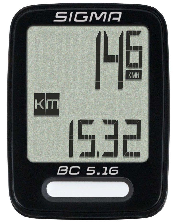 Аксессуар SIGMA BC 5.16,5 функций велокомпьютер sigma bc 5 12 тopline цвет черный 5 функций