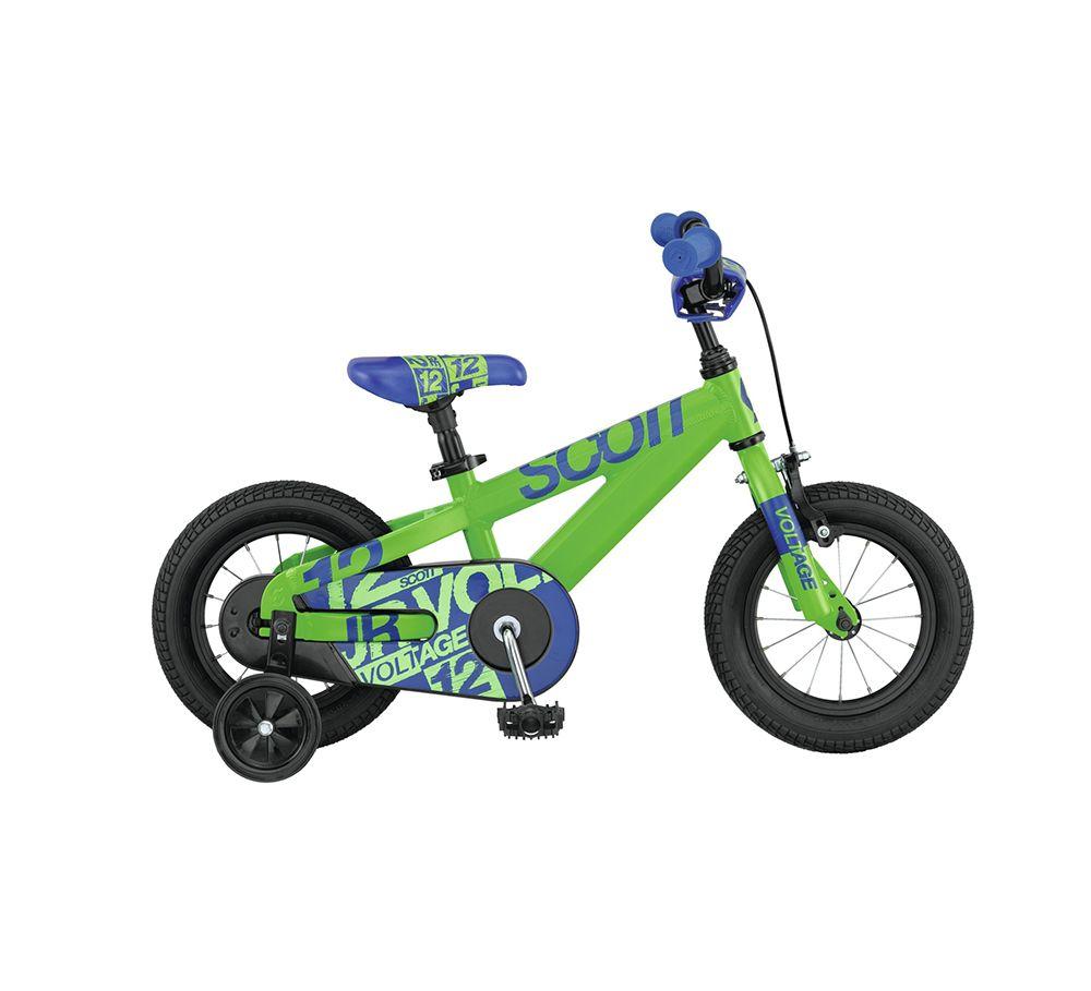 Велосипед ScottДетские<br><br><br>year: 2015<br>цвет: зелёный<br>пол: мальчик<br>тип тормозов: ободной<br>диаметр колеса: 12<br>тип рамы: хардтейл<br>материал рамы: алюминий<br>количество скоростей: 1<br>рулевая колонка: Neco H802AKEDM-S10<br>вынос: Her Sheng SH-622<br>руль: Junior Riserbar, ширина 460 мм, подъем 65 мм<br>передний тормоз: Lee Chi JC301<br>задний тормоз: Ножной<br>тормозные ручки: Tektro JL352RS<br>цепь: KMC 410<br>система: ChuanWei 28T<br>защита звёзд/цепи: Chain guard<br>каретка: ChuanWei<br>педали: VP-260N<br>ободья: Алюминиевый сплав<br>передняя втулка: KT-103F, 16H<br>задняя втулка: KT-305RT, 16H<br>спицы: 14g UCP<br>передняя покрышка: Kenda K-841, 12<br>задняя покрышка: Kenda K-841, 12<br>седло: VL-5100<br>подседельный штырь: Алюминиевый сплав, 26.8 x 200 мм<br>кассета: 18t<br>дополнительные колёса: Есть<br>рама: Алюминиевый сплав 6061 P.G, scott junior 12 voltage, octagon tubing<br>вилка: Жесткая, BMX type, Hi-ten<br>Серия: Voltage