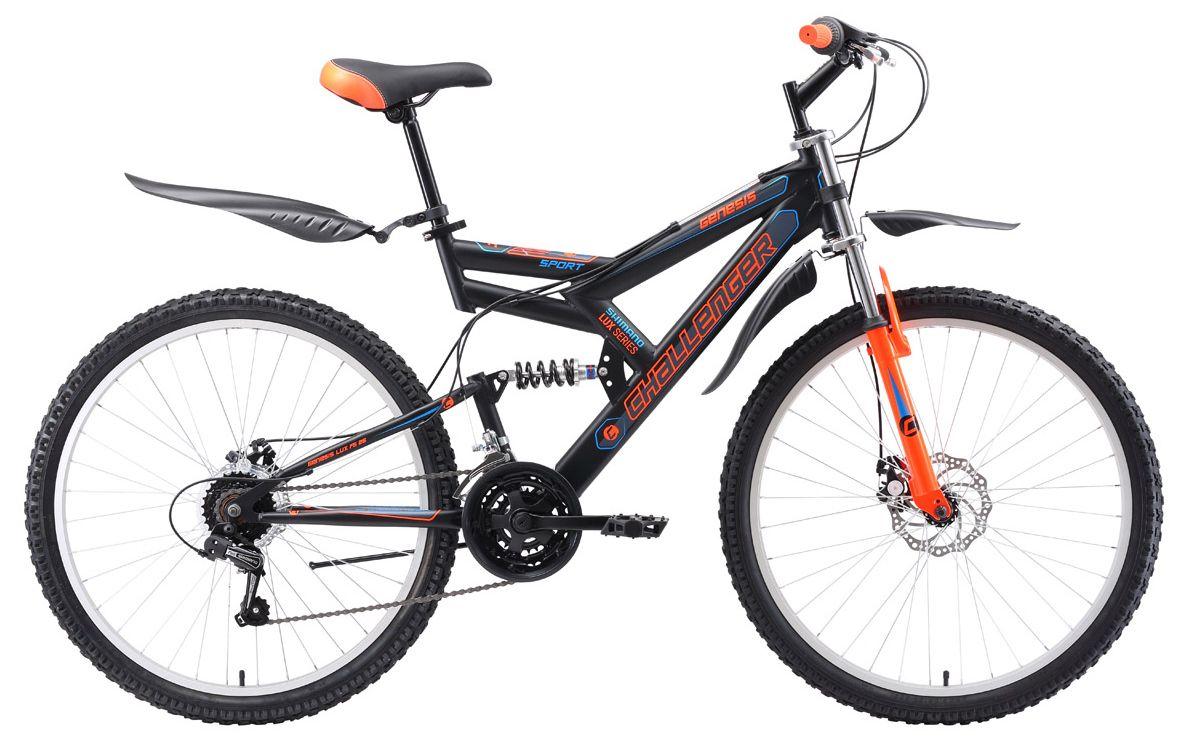 Велосипед Challanger Genesis Lux FS 26 D 2018 велосипед challenger genesis lux fs 26 d черно красный 16