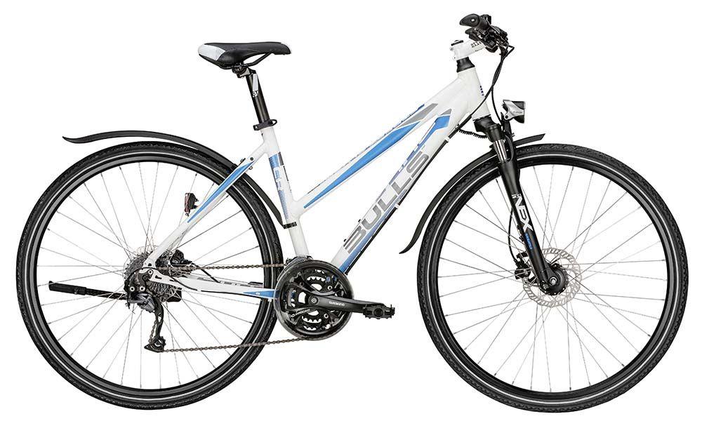 Велосипед BullsГородские<br>ВЕЛОСИПЕД BULLS STREET FLYER LADY (2015) – изящный и динамичный байк, созданный немецкими экспертами специально для прекрасной половины человечества. Наличие больших колес диаметром 28 дюймов обеспечивает модели невероятно мощный накат, а покрышки с гладким протектором гарантируют максимальное сцепление с дорогой. Трансмиссия рассчитана на 24 скорости и позволяет легко настроить любой скоростной режим. Дисковая гидравлика чрезвычайно отзывчива на все действия райдера и отлично контролирует безопасность. Вилка с функцией регулировки и диапазоном хода 63 мм позволяет свести к минимуму нагрузку от ударов. Среди дополнительных бонусов модели стоит отметить фонарик, крылья и подножку.Купить ВЕЛОСИПЕД STREET FLYER LADY (2015) вы можете в нашем магазине. На данную модель установлена конкурентная цена, а услуга доставки в любой город России выполняется максимально оперативно.<br><br>year: 2015<br>пол: женский<br>тип рамы: хардтейл<br>уровень оборудования: продвинутый<br>длина хода вилки: до 100 мм<br>блокировка амортизатора: да<br>планетарная втулка: нет<br>руль: Алюминиевый сплав<br>передний тормоз: Tektro HDC-300, диаметр ротора 160 мм<br>задний тормоз: Tektro HDC-300, диаметр ротора 160 мм<br>система: Shimano FC-M361C, 48/38/28T<br>ободья: Ryde ZAC 19SL<br>передняя покрышка: Kenda K-1170, 40-622<br>задняя покрышка: Kenda K-1170, 40-622<br>седло: Velo, STYX design<br>подседельный штырь: Алюминиевый сплав<br>рама: Алюминиевый сплав 7005<br>вилка: SR Suntour NEX-DS, ход 63 мм, с регулировкой<br>тип заднего амортизатора: без амортизатора<br>цвет: белый<br>размер рамы: 19&amp;amp;quot;<br>материал рамы: алюминий<br>тип тормозов: дисковый гидравлический<br>диаметр колеса: 28<br>тип амортизированной вилки: пружинная<br>передний переключатель: Shimano Altus<br>задний переключатель: Shimano Alivio<br>количество скоростей: 24