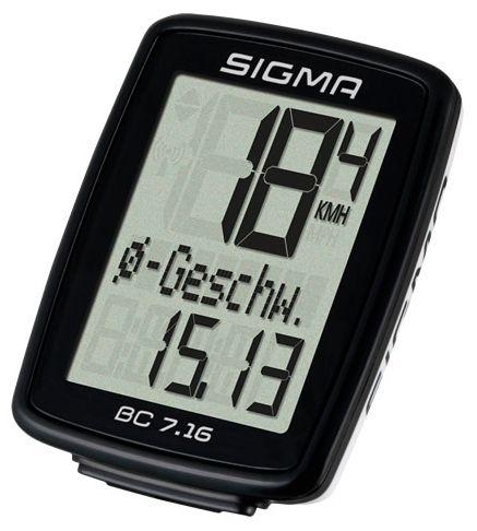 Аксессуар SIGMA BC 7.16,7 функций велокомпьютер sigma bc 5 12 тopline цвет черный 5 функций