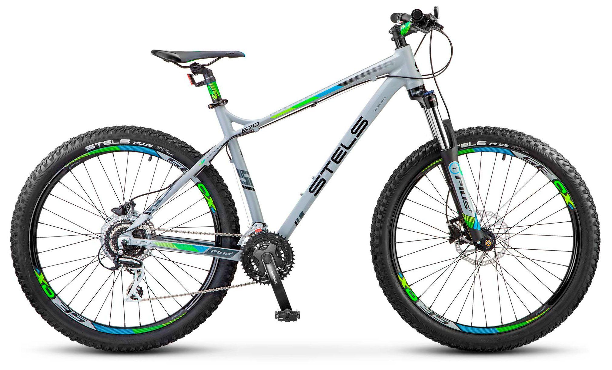Велосипед Stels Navigator 670 D 27.5 Plus (V020) 2018 велосипед stels navigator 670 md 2015