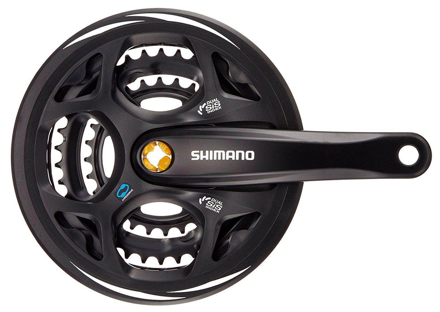 Запчасть Shimano Altus M311, 175 мм, Кв, 48/38/28T, защ. система велосипедная shimano altus 21 24скорости 48 38 28 175мм черная efcm311e888xl 2 932 1