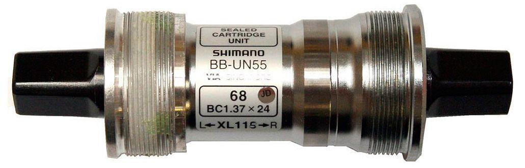 Запчасть Shimano UN55, 68/127 мм велосипедная каретка shimano un55 68 107 без болтов