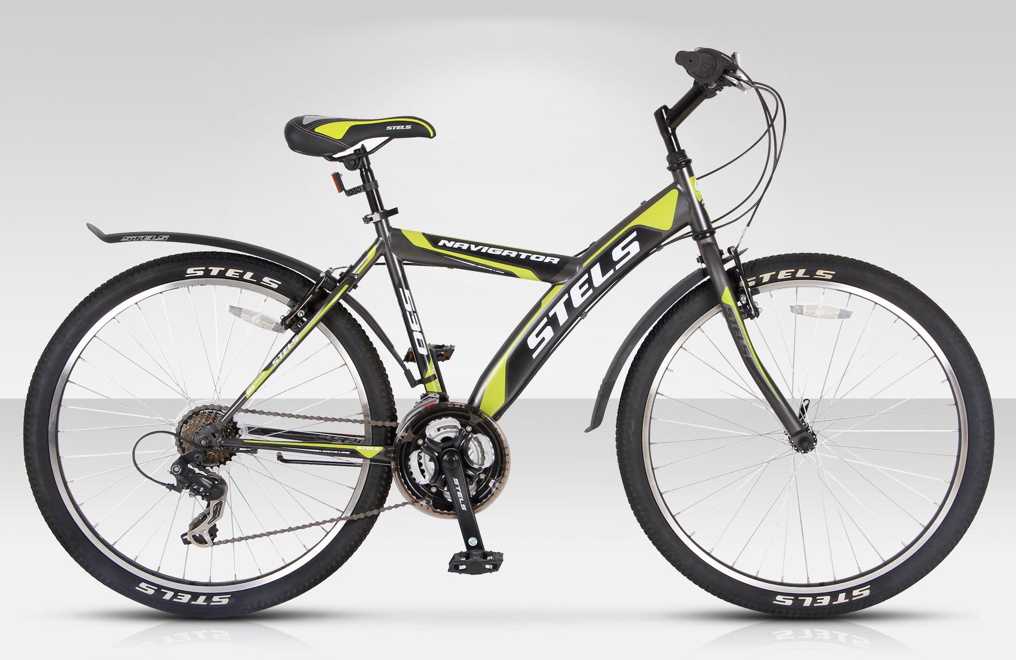 Велосипед StelsГорные<br>Доступный горный велосипед Stels Navigator 530 V предназначен для новичков, которые хотят попробовать свои силы в велосипедном спорте. Несмотря на доступность, Stels Navigator 530 V обладает качественными компонентами и стильным дизайном. Стальная рама и жесткая вилка обеспечили модель высокой прочностью и надежностью. Ободные тормоза порадуют неприхотливостью в настройке и обслуживании, и четкостью и плавностью в работе. За переключение передач отвечает японская трансмиссия Shimano Tourney.<br><br>year: 2016<br>пол: мужской<br>тип рамы: хардтейл<br>уровень оборудования: любительский<br>длина хода вилки: нет<br>блокировка амортизатора: нет<br>рулевая колонка: Feimin, сталь<br>передний тормоз: Power, V-типа<br>задний тормоз: Power, V-типа<br>система: Prowheel, сталь, 28/38/48T<br>каретка: Feimin, сталь<br>педали: Feimin, пластик<br>ободья: Алюминиевые двойные<br>передняя втулка: KT, сталь<br>задняя втулка: KT, сталь<br>передняя покрышка: Chao Yang, 26 x 2.0<br>задняя покрышка: Chao Yang, 26 x 2.0<br>седло: Justek<br>кассета: Shimano Tourney, MF-TZ20<br>манетки: Shimano Tourney, SL-RS36<br>крылья: Пластик<br>подножка: Есть<br>рама: Сталь<br>вилка: Сталь<br>тип заднего амортизатора: без амортизатора<br>цвет: оранжевый<br>размер рамы: 18&amp;amp;quot;<br>материал рамы: сталь<br>тип тормозов: ободной<br>диаметр колеса: 26<br>тип амортизированной вилки: жесткая<br>передний переключатель: Shimano Tourney, FD-TX51<br>задний переключатель: Shimano Tourney, RD-TX35<br>количество скоростей: 18