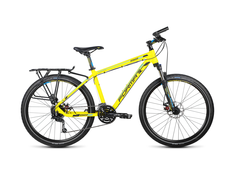 Велосипед FormatГорные<br>Format 5212 – это максимально комфортное передвижение по городу в течение всего дня! Элегантный и очень практичный, этот байк подарит вам множество положительных эмоций и станет верным спутником как в деловом вояже, так и в неторопливой велопрогулке по городскому парку. Главный компонент велосипеда – прочная и достаточно лёгкая рама – изготовлен из высокотехнологичного алюминиевого сплава. Благодаря наличию вилки езда по бездорожью будет отнимать меньше сил. Дисковые тормоза Avid BB-3 обеспечат быстрое и плавное снижение скорости в нужный момент. Навесное оборудование высокого любительского уровня Shimano.<br><br>year: 2015<br>пол: мужской<br>тип рамы: хардтейл<br>уровень оборудования: продвинутый<br>длина хода вилки: до 100 мм<br>блокировка амортизатора: да<br>передний тормоз: Avid BB-3, диаметр ротора 160 мм<br>задний тормоз: Avid BB-3, диаметр ротора 160 мм<br>система: SR Suntour XCT, 42-34-24T<br>передняя втулка: QR, аллюминиевый сплав<br>задняя втулка: QR, аллюминиевый сплав<br>передняя покрышка: Schwalbe Marathon, 26<br>задняя покрышка: Schwalbe Marathon, 26<br>манетки: Shimano Altus<br>рама: AL 6061 Format Custom Tubing<br>вилка: SR Suntour XCT HLO, ход 80 мм, регулировка жесткости<br>тип заднего амортизатора: без амортизатора<br>цвет: жёлтый<br>размер рамы: 17&amp;amp;quot;<br>материал рамы: алюминий<br>тип тормозов: дисковый механический<br>диаметр колеса: 26<br>тип амортизированной вилки: пружинно-масляная<br>передний переключатель: Shimano Acera<br>задний переключатель: Shimano Deore Shadow<br>количество скоростей: 24