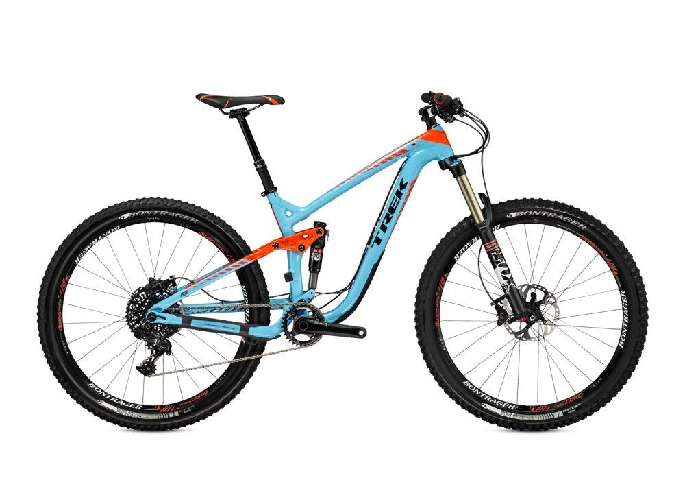 Велосипед TrekДвухподвесы<br>ВЕЛОСИПЕД TREK REMEDY 9 27.5 (2015) — двухподвесная модель с усовершенствованной амортизацией для комфортной езды по неровностях и бездорожью. Этот горный велосипед привлекает яркой рамой красно-голубого оттенка, которая сочетает в себе яркий дизайн и алюминиевую прочность фирменной технологии Alpha Platinum. Трансмиссия на 11 скоростей и дисковые гидравлические тормоза Shimano Deore XT дают вам простор для экспериментов и гарантии безопасности, а колеса 27 дюймов с упрочненными покрышками Bontrager XR4 Team Issue порадуют быстрым разгоном в любых условиях. Вы оцените плавность и четкость амортизации, которую обеспечит вилка Fox Performance Series 34 Float и задний амортизатор Fox Performance Series Float.Приглашаем купить ВЕЛОСИПЕД TREK REMEDY 9 27.5 (2015) в нашем Интернет-магазине. Для вас всегда приятные цены, скидки и акции на оригинальную продукцию и доставка по РФ.<br><br>year: 2015<br>цвет: голубой<br>пол: мужской<br>тип рамы: двухподвес<br>уровень оборудования: профессиональный<br>длина хода вилки: от 100 до 150 мм<br>тип заднего амортизатора: воздушно-масляный<br>блокировка амортизатора: да<br>рулевая колонка: FSA IS-2, E2, алюминиевый сплав<br>вынос: Bontrager Rhythm Pro, 31.8 мм<br>руль: Bontrager Race Lite Riser, 31.8 мм, подъем 15 мм<br>грипсы: Bontrager Rhythm<br>передний тормоз: Shimano Deore XT<br>задний тормоз: Shimano Deore XT<br>цепь: SRAM PC-1130<br>система: SRAM X1 1400 X-Sync, 32T<br>ободья: Bontrager Rhythm Comp Tubeless Ready<br>передняя покрышка: Bontrager XR4 Team Issue, Tubeless Ready, 27.5 х 2.35<br>задняя покрышка: Bontrager XR3 Team Issue, Tubeless Ready, 27.5 х 2.35<br>седло: Bontrager Evoke 2<br>подседельный штырь: RockShox Reverb Stealth 31.6 мм<br>кассета: SRAM XG-1180, 10-42T, 11 скоростей<br>манетки: SRAM X1, 11 скоростей<br>рама: Alpha Platinum, алюминий<br>вилка: Fox Performance Series 34 Float, ход 140 мм<br>задний амортизатор: Fox Performance Series Float, ход 7.75, ось 2.25<br>размер рамы: 18.5&a