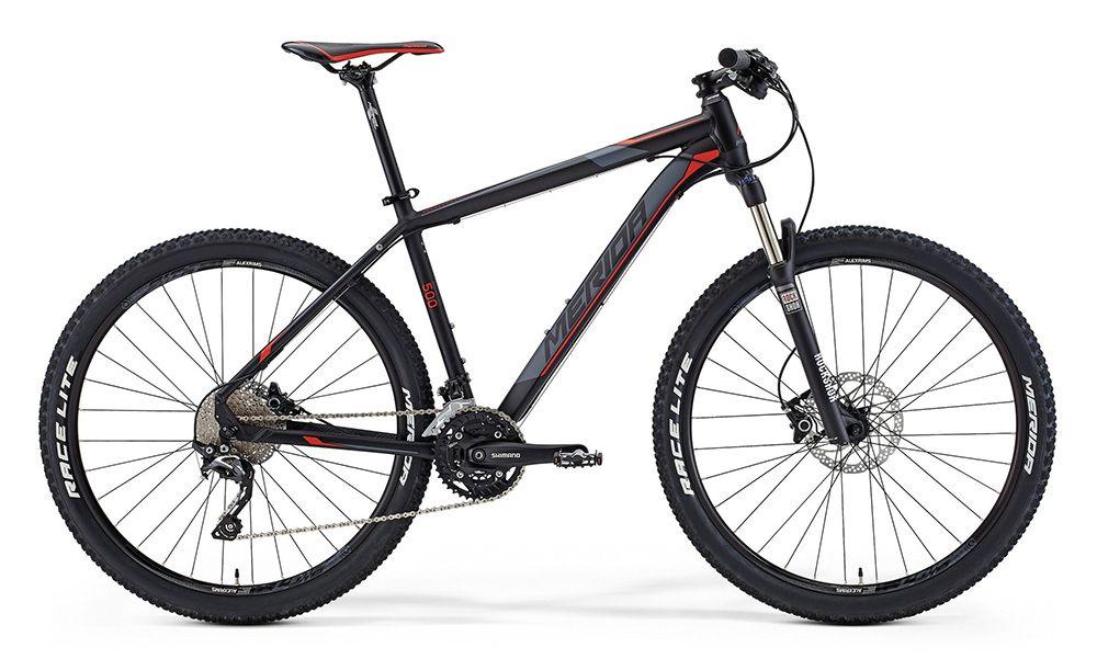 Велосипед MeridaГорные<br>ВЕЛОСИПЕД MERIDA BIG.SEVEN 500 (2015) — горные модели сегодня можно использовать и в экстремальных условиях, и для прогулки по парку. Этот велосипед отличается повышенной прочностью, эргономичный и стильный дизайн позволит вам наслаждаться долгими поездками без усталости. Рама Big.Seven TFS — фирменная разработка бренда, которая создана именно для активной эксплуатации в экстремальных условиях. Комплектацию удачно дополняют колеса 27,5 дюймов, вилка Rock Shox XC30TK27 SA для амортизации и 30-ступенчатая трансмиссия. Вы можете всегда положится на тормоза Shimano M355, которые зарекомендовали себя с лучшей стороны в самых сложных условиях.Купить ВЕЛОСИПЕД MERIDA BIG.SEVEN 500 (2015) по приятной цене в нашем магазине можно простой сейчас. У нас — быстрое оформление заказа, удобные методы оплаты и доставка по РФ с сжатие сроки.<br><br>year: 2015<br>пол: мужской<br>тип рамы: хардтейл<br>уровень оборудования: профессиональный<br>длина хода вилки: от 100 до 150 мм<br>блокировка амортизатора: да<br>вынос: Merida Comp OS 6<br>руль: Merida Pro OS, ширина 680 мм, подъем 12 мм<br>передний тормоз: Shimano M355, диаметр ротора 180 мм<br>задний тормоз: Shimano M355, диаметр ротора 160 мм<br>цепь: KMC Z10-10s<br>система: Shimano M523 octa 40-30-22<br>каретка: Shimano octalink<br>педали: XC pro alloy<br>ободья: Merida Big 7 comp D<br>передняя втулка: Formula Centerlock<br>задняя втулка: Formula Centerlock casette<br>передняя покрышка: Merida Race lite fold, 27<br>задняя покрышка: Merida Race lite fold, 27<br>седло: Merida Sport 5<br>подседельный штырь: Merida Comp SB12, диаметр 27,2 мм<br>кассета: Shimano CS-HG50-10, 11-36<br>манетки: Shimano Deore<br>рама: Big.Seven TFS<br>вилка: Rock Shox XC30TK27 SA, ход 100 мм<br>тип заднего амортизатора: без амортизатора<br>цвет: чёрный<br>размер рамы: 18.5&amp;amp;quot;<br>материал рамы: алюминий<br>тип тормозов: дисковый гидравлический<br>диаметр колеса: 27.5<br>тип амортизированной вилки: пружинно-масляная<br>передн