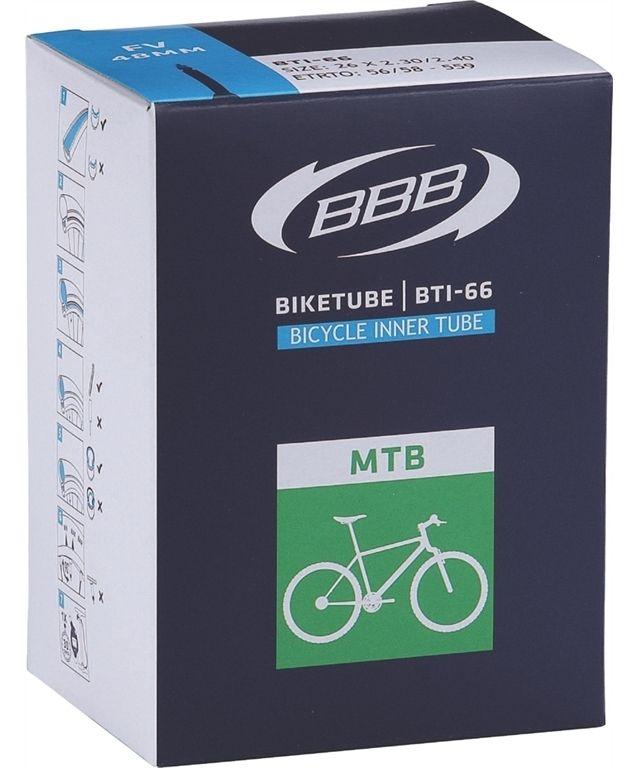 Запчасть BBB BTI-63, 26 x 1,9-2,30 AV,  камеры и ободные ленты  - артикул:282921
