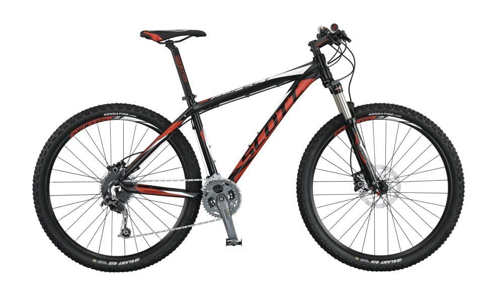 Велосипед ScottГорные<br><br><br>year: 2015<br>пол: мужской<br>тип рамы: хардтейл<br>уровень оборудования: продвинутый<br>длина хода вилки: от 100 до 150 мм<br>блокировка амортизатора: да<br>рулевая колонка: Ritchey Logic OE<br>вынос: Syncros M3.0 HL-D507A<br>руль: Syncros M3.0, ширина 680 мм, подъем 12 мм<br>передний тормоз: Shimano BR-M355, диаметр ротора 180 мм<br>задний тормоз: Shimano BR-M355, диаметр ротора 160 мм<br>тормозные ручки: Shimano BL-M355<br>цепь: KMC X9<br>система: Shimano FC-M4000, 40-30-22T<br>педали: Wellgo M-248DU<br>ободья: Syncros X-37 Disc 32H, черные<br>передняя втулка: Formula CL51<br>задняя втулка: Shimano FH-RM 33-CL<br>спицы: 14G, нержавеющая сталь<br>передняя покрышка: Kenda Slant 6, 27.5 x 2.1<br>задняя покрышка: Kenda Slant 6, 27.5 x 2.1<br>седло: Aspect VL1423<br>подседельный штырь: Syncros M3.0, 31.6 мм<br>кассета: Shimano CS-HG200-9, 11-34T<br>манетки: Shimano SL-M370-9R R-fire plus<br>рама: Aspect 700 series 6061, алюминиевый сплав<br>вилка: Suntour XCR-RL-R 27.5, ход 100 мм<br>тип заднего амортизатора: без амортизатора<br>цвет: чёрный<br>размер рамы: 22&amp;amp;quot;<br>материал рамы: алюминий<br>тип тормозов: дисковый гидравлический<br>диаметр колеса: 27.5<br>тип амортизированной вилки: пружинно-масляная<br>передний переключатель: Shimano FD-M4000<br>задний переключатель: Shimano Deore RD-M592, 27 скоростей<br>количество скоростей: 27