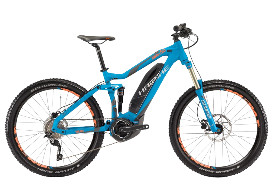 Велосипед Haibike Sduro AllMtn 5.0 400Wh 10-Sp SLX 2017,  Двухподвесы  - артикул:283600