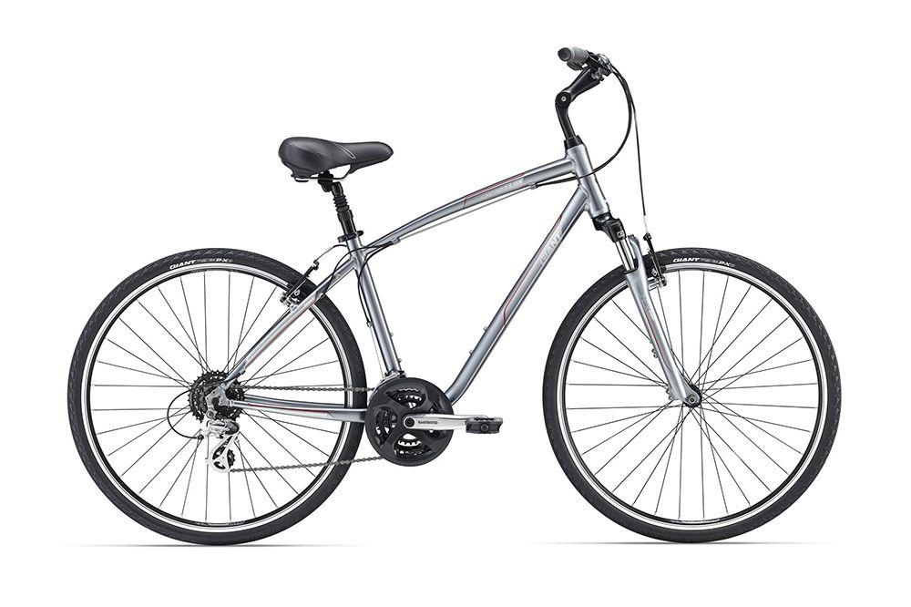 Велосипед GiantГородские<br><br><br>year: 2016<br>цвет: серый<br>пол: мужской<br>тип тормозов: ободной<br>диаметр колеса: 28<br>уровень оборудования: любительский<br>материал рамы: алюминий<br>тип амортизированной вилки: пружинная<br>длина хода вилки: нет<br>количество скоростей: 24<br>блокировка амортизатора: нет<br>планетарная втулка: нет<br>вынос: Алюминиевый сплав, регулируемый<br>руль: Алюминиевый сплав, High Rise<br>передний тормоз: Алюминиевый сплав, Direct Pull<br>задний тормоз: Алюминиевый сплав, Direct Pull<br>тормозные ручки: Алюминиевый сплав, Comfort<br>цепь: KMC Z72<br>система: Shimano M131, 28/38/48<br>каретка: Shimano, картридж<br>педали: Nylon<br>ободья: Giant GX02, алюминиевый сплав, с двойной стенкой<br>передняя втулка: Formula, алюминиевый сплав<br>задняя втулка: Formula, алюминиевый сплав<br>спицы: 14g нержавеющая сталь<br>передняя покрышка: Giant P-X3, 700x38, Multi-Surface<br>задняя покрышка: Giant P-X3, 700x38, Multi-Surface<br>седло: Nylon Anti-Slip Platform<br>подседельный штырь: Алюминиевый сплав, suspension, 30.9 мм<br>кассета: Shimano CS-HG31, 11-34, 8 скоростей<br>передний переключатель: Shimano M191<br>задний переключатель: Shimano Altus M310<br>манетки: Shimano EF 51<br>рама: AluxX, алюминиевый сплав<br>вилка: SR Suntour NEX 4110, ход 63 мм<br>размер рамы: 20&amp;amp;quot;<br>Серия: Cypress