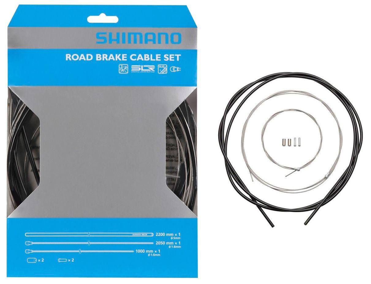 Запчасть Shimano трос и оплетка 1000мм/2050мм оплетка тормоза shimano slr 40м в коробке цвет желтый y80900018