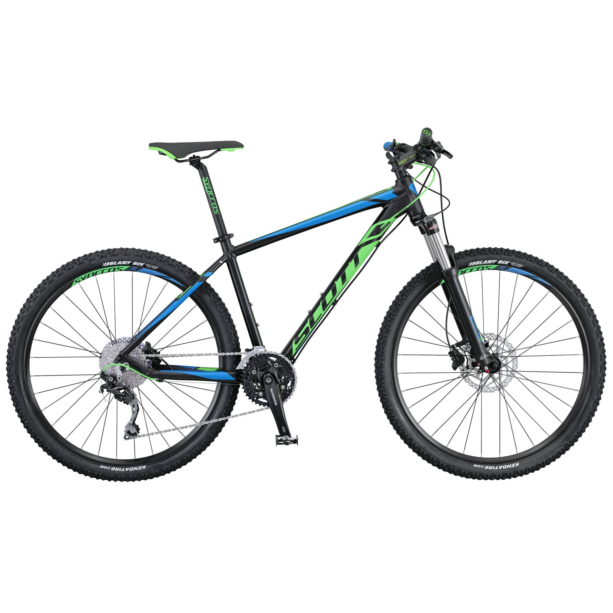 Велосипед ScottГорные<br><br><br>year: 2016<br>цвет: чёрный<br>пол: мужской<br>тип тормозов: дисковый гидравлический<br>диаметр колеса: 27.5<br>тип рамы: хардтейл<br>уровень оборудования: продвинутый<br>материал рамы: алюминий<br>тип амортизированной вилки: воздушно-масляная<br>длина хода вилки: от 100 до 150 мм<br>тип заднего амортизатора: без амортизатора<br>количество скоростей: 30<br>блокировка амортизатора: да<br>рулевая колонка: GW 1SI110 OE integ.<br>вынос: Syncros M3.0, HL-D507A<br>руль: Syncros M3.0, ширина 720 мм, подъем 12 мм, 31.8 мм, 9°<br>передний тормоз: Shimano BR-M396, SM-RT20 CL Rotor, диаметр ротора 180 мм<br>задний тормоз: Shimano BR-M396, SM-RT20 CL Rotor, диаметр ротора 160 мм<br>тормозные ручки: Shimano BL-M396<br>цепь: KMC X10<br>система: Shimano FC-M523, 40x30x22T<br>каретка: Shimano BB-ES-300, Cartridge Type<br>педали: Wellgo M-248DU<br>ободья: Syncros X-37 Disc, 32H<br>передняя втулка: Formula CL51<br>задняя втулка: Shimano FH-RM 35-CL<br>спицы: 14 G, stainless<br>передняя покрышка: Kenda Slant 6, 30TPI, 27.5 x 2.1<br>задняя покрышка: Kenda Slant 6, 30TPI, 27.5 x 2.1<br>седло: Syncros M2.5<br>подседельный штырь: Syncros M3.0, 27.2mm<br>кассета: Shimano CS-HG50-10, 11-36T<br>передний переключатель: Shimano Deore FD-M610 / 31.8mm<br>задний переключатель: Shimano Deore RD-M610 SGS, Shadow Type, 30 Speed<br>манетки: Shimano Deore SL-M610, Rapidfire plus, 2 way release w/gear indicator<br>вес: 14 кг<br>рама: Aspect 700 series, Alloy 6061 Performance geometry, Internal cable routing<br>вилка: Suntour XCR-RL-R 27.5, Remote Lockout, reb. Adj, ход 100 мм<br>размер рамы: 20&amp;amp;quot;<br>Серия: Aspect