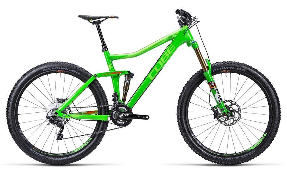 Велосипед CubeДвухподвесы<br>ВЕЛОСИПЕД CUBE STEREO 160 SUPER HPC SL 27.5 (2015) – одна из лучших разработок немецких специалистов в 2015 году. Модель позиционируется как надежный горный хардтейл, способный подарить своему владельцу ощущение 100% уверенности на дороге. Рама велосипеда изготовлена из углепластика по технологии Super HPC Monocoque, облегчающей вес. Сравнительно небольшие 27,5 колеса отлично ведут себя на дорожных покрытиях разного типа. Модель оснащена двумя подвесками, отличную работу которых гарантирует воздушно-масляная вилка Fox 34 Float с ходом 160 мм. Вес модели – всего 12,6 кг, что делает ее одной из самых легких в своем классе.Если вы хотите купить ВЕЛОСИПЕД STEREO 160 SUPER HPC SL 27.5 (2015) по адекватной цене, оформите заказ в нашем магазине. Стоимость модели указана в рублях и соответствует актуальной ситуации. Доставка в другие города России выполняется в сжатые сроки.<br><br>year: 2015<br>пол: мужской<br>тип рамы: двухподвес<br>уровень оборудования: профессиональный<br>длина хода вилки: более 150 мм<br>блокировка амортизатора: да<br>вынос: Race Face Turbine Basic<br>руль: Race Face Next SL Carbon, ширина 760 мм<br>грипсы: Cube Fritzz Grip, 2-clamp<br>передний тормоз: Shimano XT K-M785, диаметр ротора 180 мм<br>задний тормоз: Shimano XT K-M785, диаметр ротора 180 мм<br>цепь: Shimano XT CN-HG95<br>система: Shimano XT, FC-M785, 38x24T, длина шатунов 175 мм<br>ободья: DT CSW EM 3.7 straightpull, 584x25C tubeless ready<br>спицы: 28/28<br>передняя покрышка: Schwalbe Hans Dampf Kevlar, 27.5<br>задняя покрышка: Schwalbe Rock Razor Kevlar, 27.5<br>седло: SDG Circuit MTN<br>подседельный штырь: Rock Shox Reverb Stealth, диаметр 31,6 мм, амортизационный, 125 мм<br>кассета: Shimano XT CS-M771, 11-36<br>манетки: Shimano XT SL-M780-I<br>рама: Super HPC Monocoque Advanced Twin Mold Technology<br>вилка: Fox 34 Float 27.5 CTD Adjust FIT, Kashima coated, ход 160 мм<br>задний амортизатор: Fox Float CTD Adjust BoostValve, 216x64 мм<br>тип заднего амортизатора