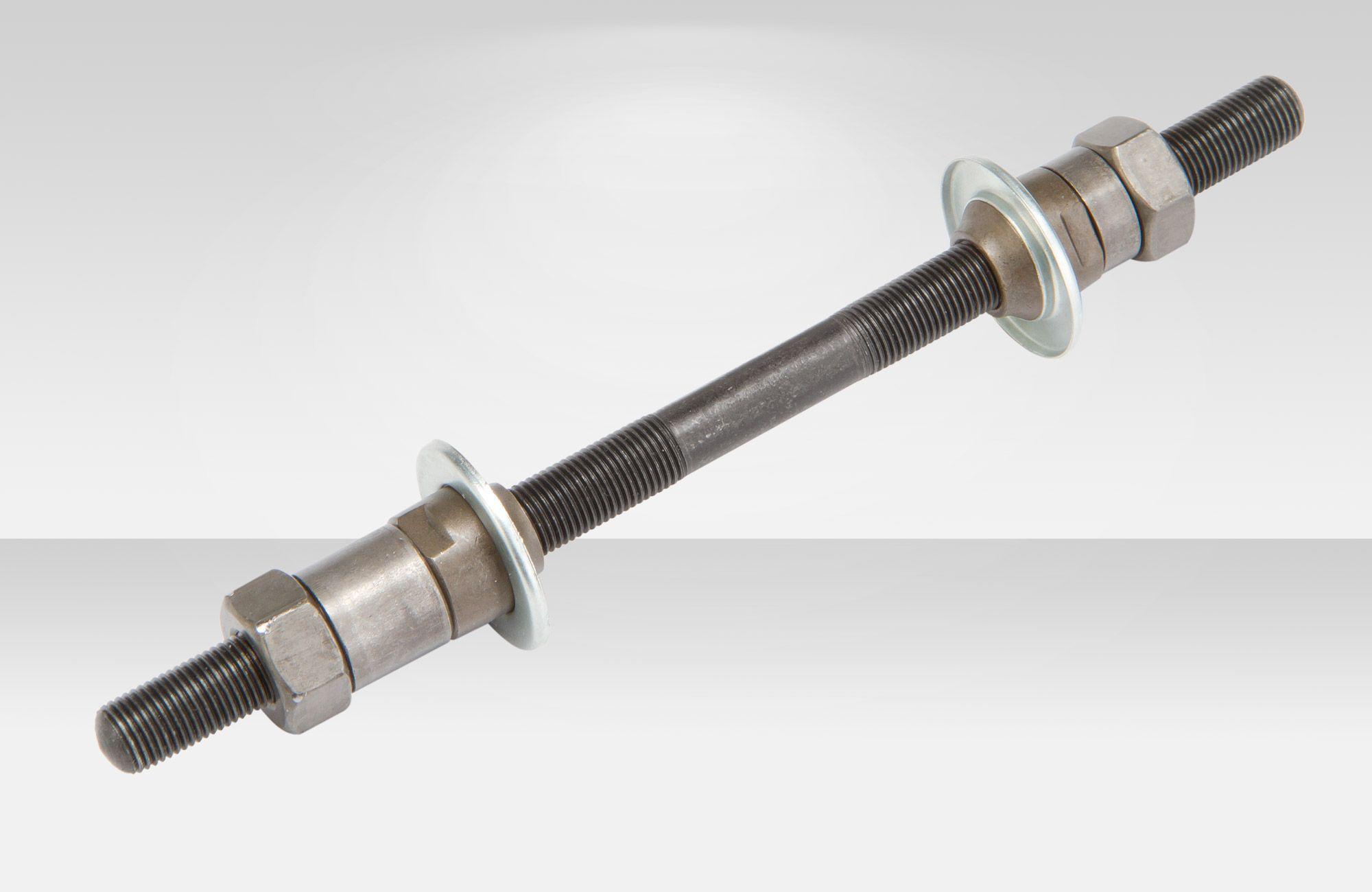 Запчасть Stels ось задней втулки 10 х 175 мм (в комплекте с гайками, шайбами и конусами),  втулки  - артикул:268678